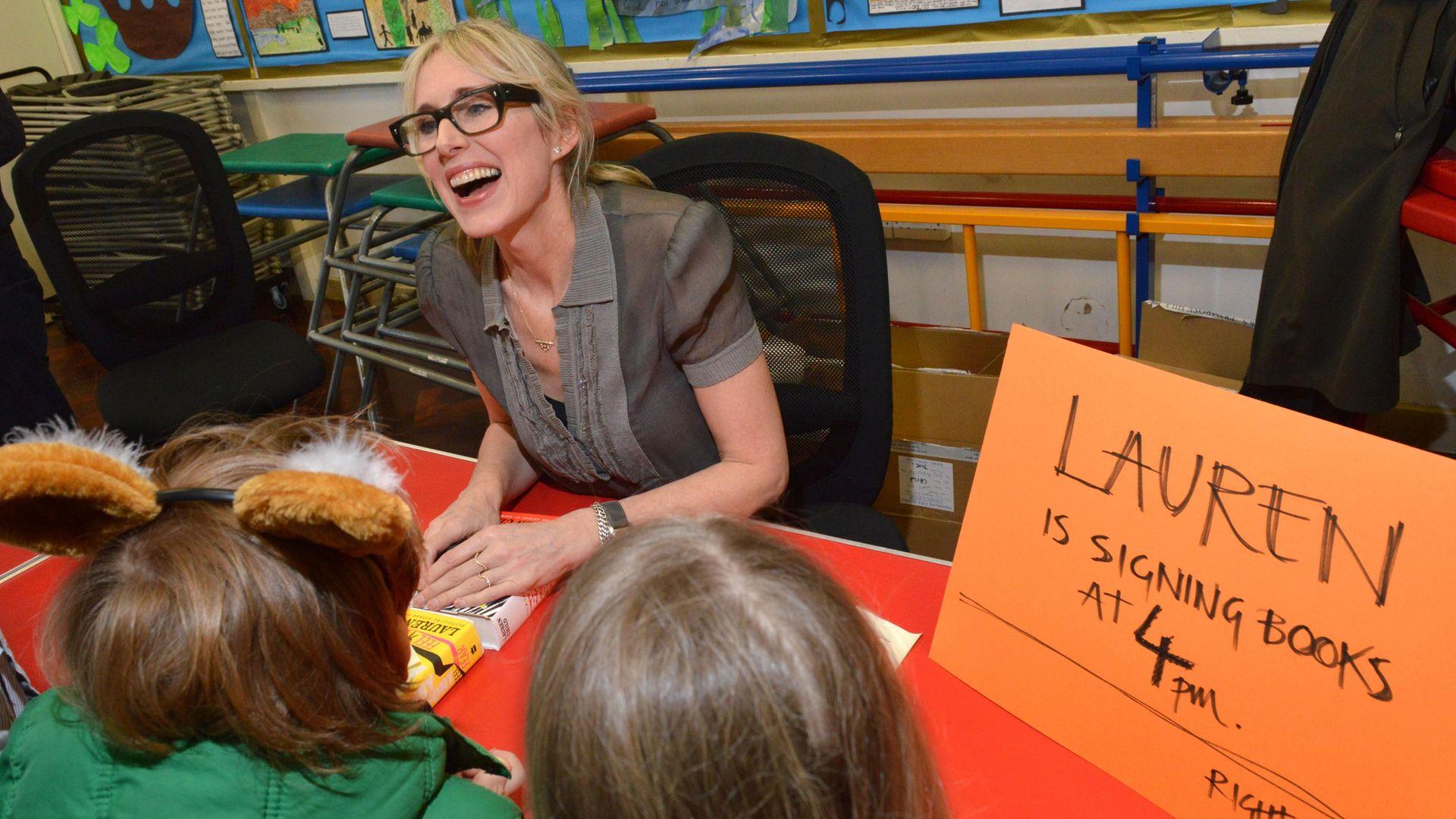 Author Lauren Child signs books. - Credit: Archant