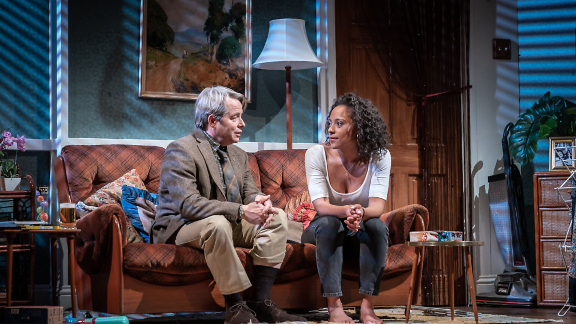 Matthew Broderick and Rosalind Eleanor are 'perplexing' in The Starry Messenger, says Tim Walker; Photo: Marc Brenner - Credit: Archant