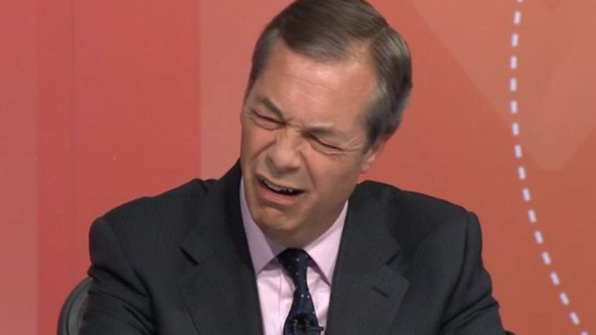 Nigel Farage. Photograph: BBC. - Credit: Archant