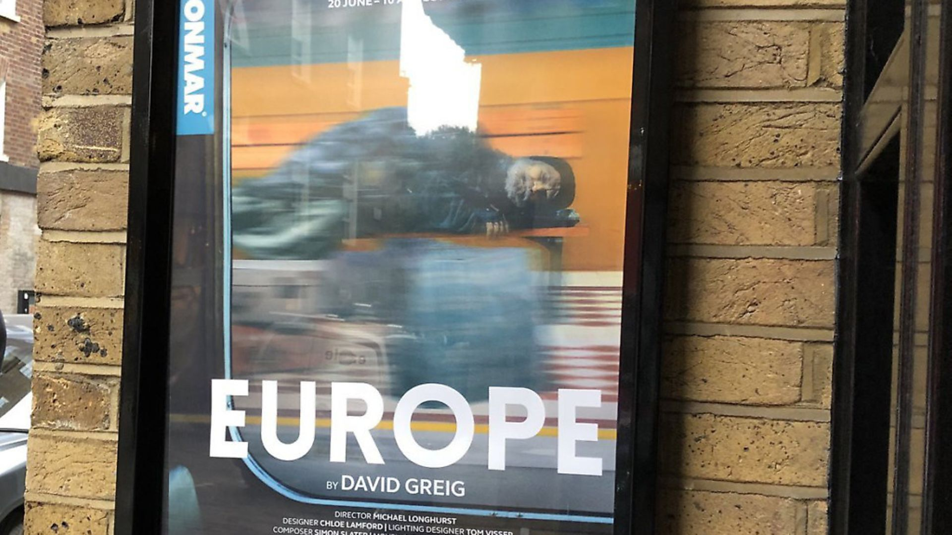 A promotional poster for the stage production of Europe at the Donmar Warehouse. Photograph: Twitter. - Credit: Archant