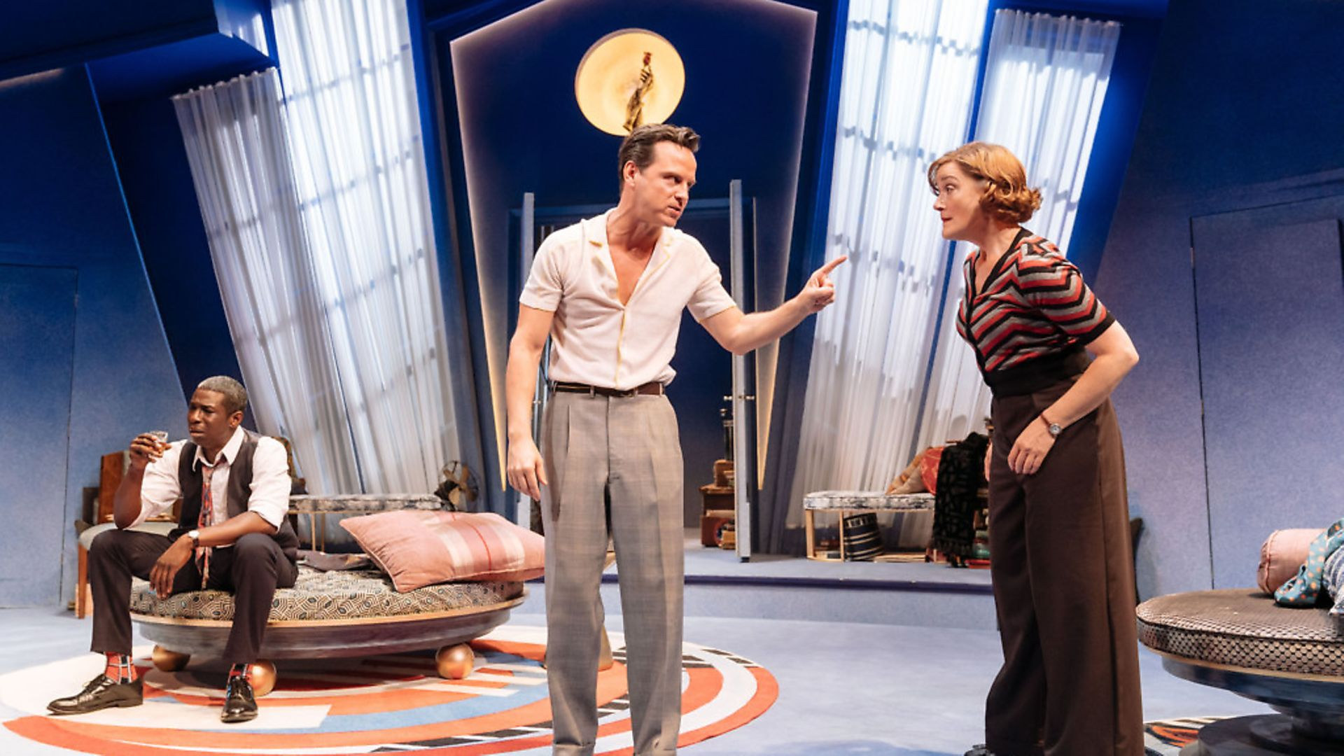 A scene from the comic play Present Laughter. Picture: Manuel Harlan - Credit: Archant