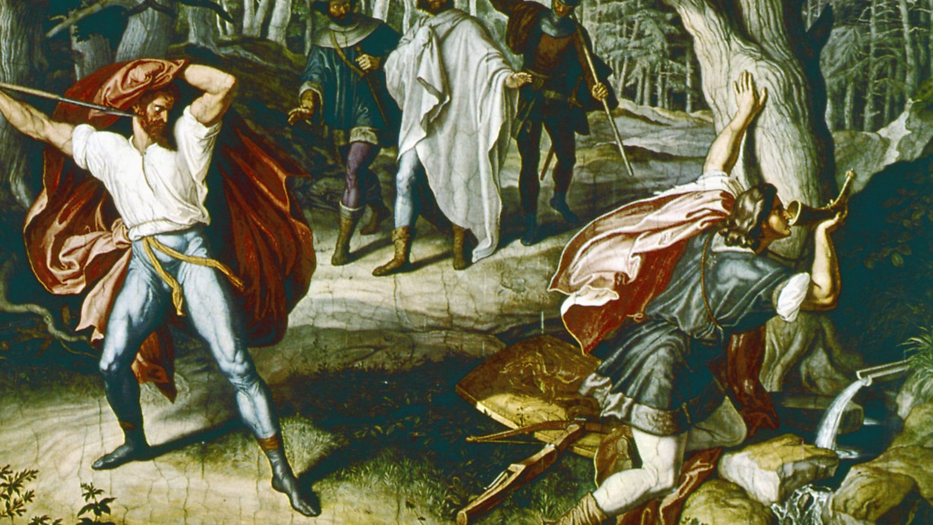 Julius Schnorr von Carolsfield's Siegfried's Death, 1847, tells the legend of the Nibelungen, the ancient tale that inspired Nicolas Jubber's Epic Continent. Picture: Getty Images - Credit: ullstein bild via Getty Images