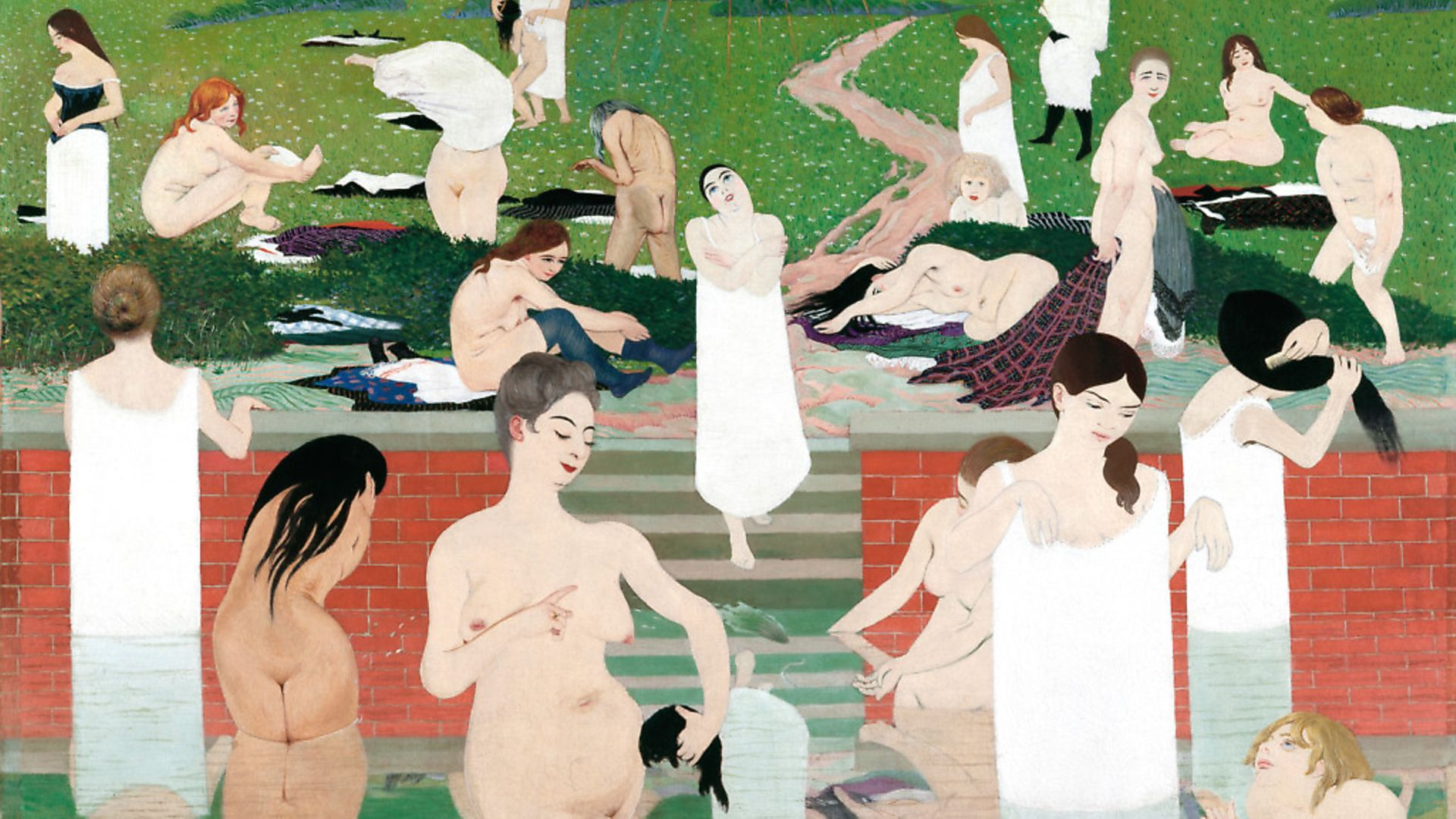 Bathing on a Summer Evening  1892-93. Oil on canvas, 97 x 131 cm. Credit: Kunsthaus Zurich. Kunsthaus Zurich - Credit: Archant