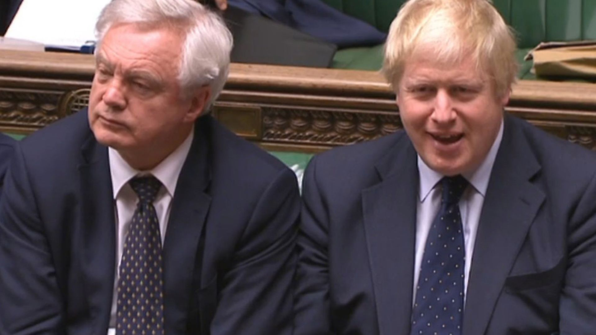Brexit Secretary David Davis and Foreign Secretary Boris Johnson in the House of Commons, London. PA Archive/PA Images - Credit: PA Archive/PA Images