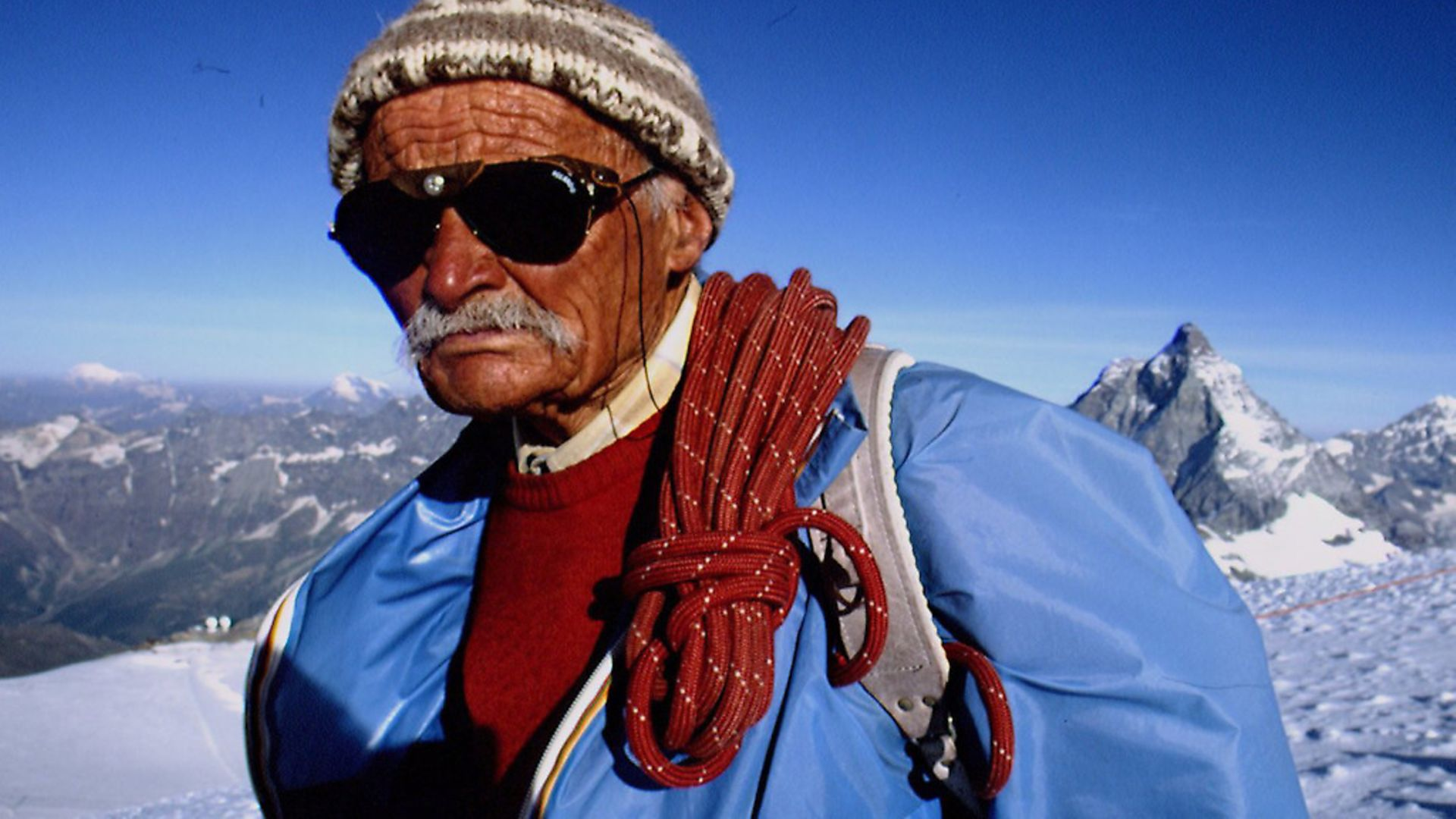 Ulrich Inderbinen, who was the oldest mountain guide in the world. Picture: John van Hasselt/Sygma via Getty Images - Credit: Sygma via Getty Images