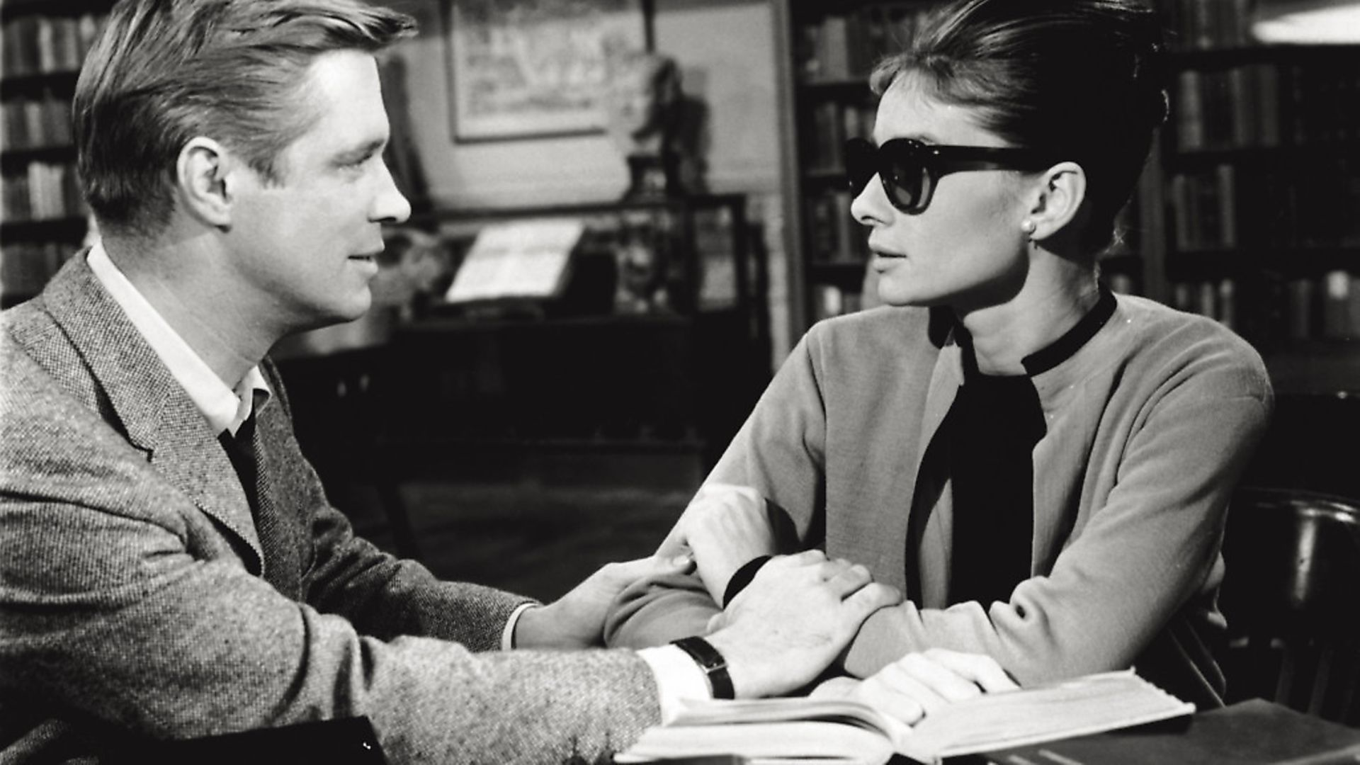 The British actress Audrey Hepburn acting along American actor George Peppard in the film 'Breakfast at Tiffany's'. USA, 1960 (Photo by Mondadori via Getty Images) - Credit: Mondadori via Getty Images