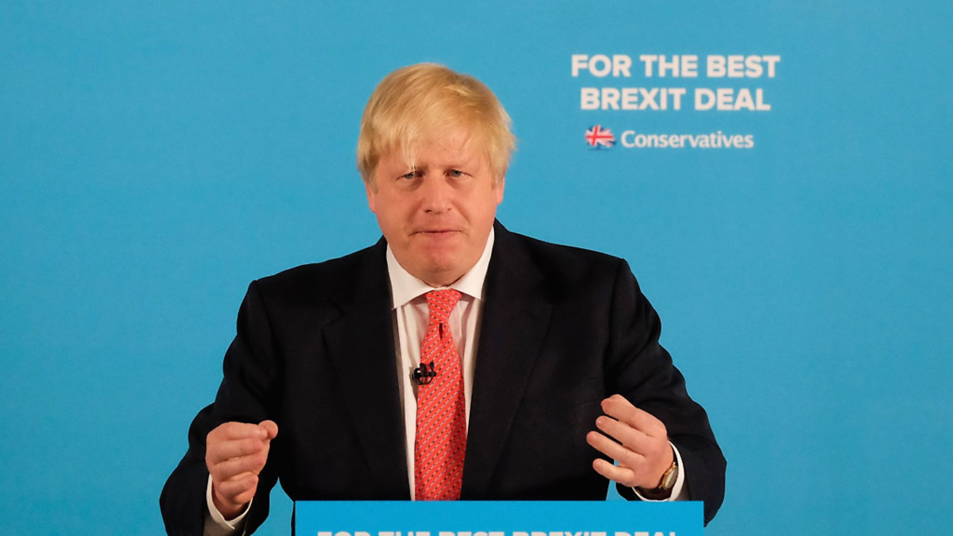 Boris Johnson ahead of the 2017 general election. (Photo by Ian Forsyth/Getty Images) - Credit: Getty Images