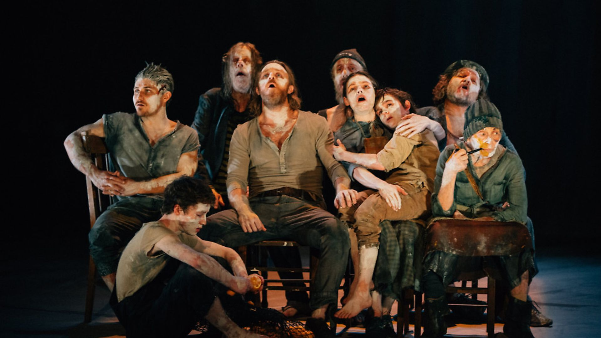 Members of the cast of 'The Secret River', a harrowing play examining British history.  Photo: Ryan Buchanan - Credit: Archant