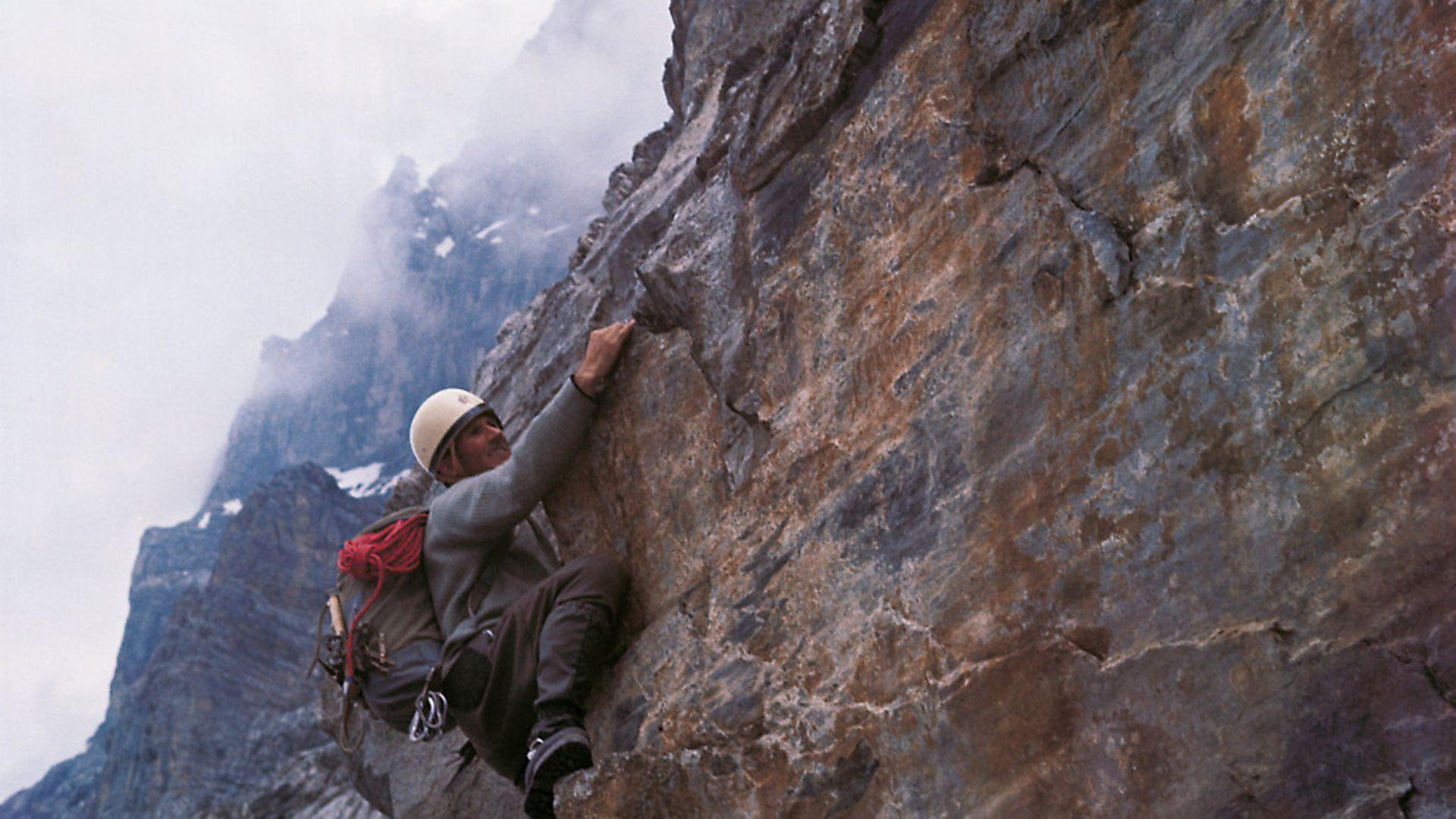 The Italian mountaineer Walter Bonatti training on Kleine Scheidegg before facing the climb to Mont Blanc. Switzerland, 1963 (Photo by Mario De BiasiMondadori Portfolio by Getty Images) - Credit: Mondadori via Getty Images