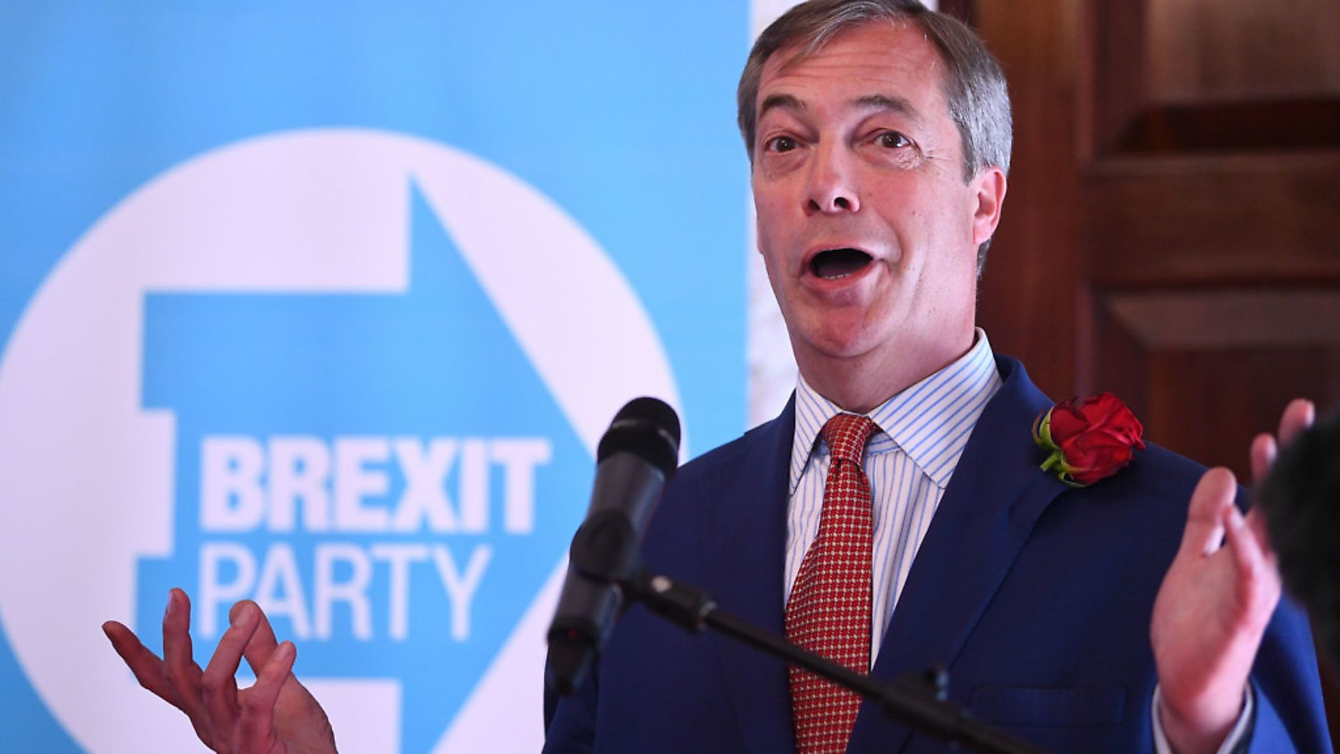 Nigel Farage at the launch of the Brexit Party in central London. Photograph: Victoria Jones/PA Wire. - Credit: PA