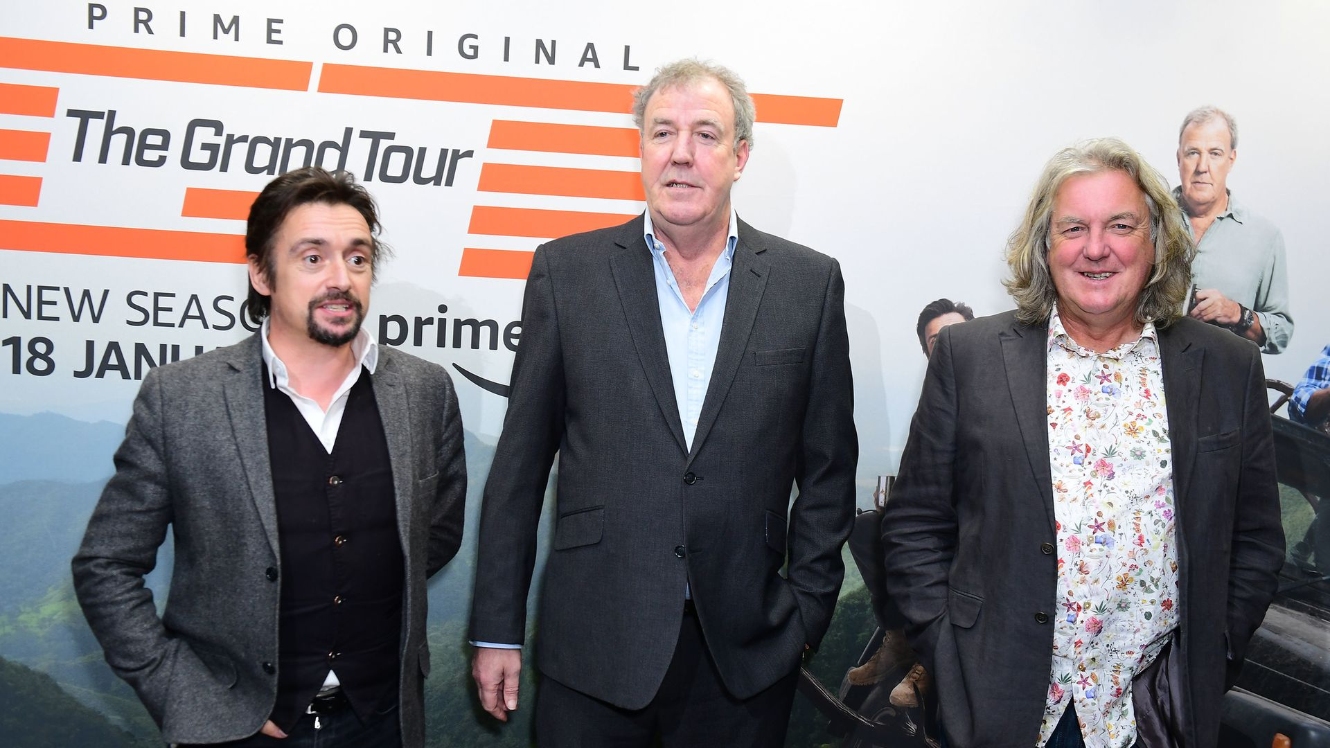 Richard Hammond, Jeremy Clarkson and James May host Amazon Prime Video's Grand Tour series. - Credit: PA