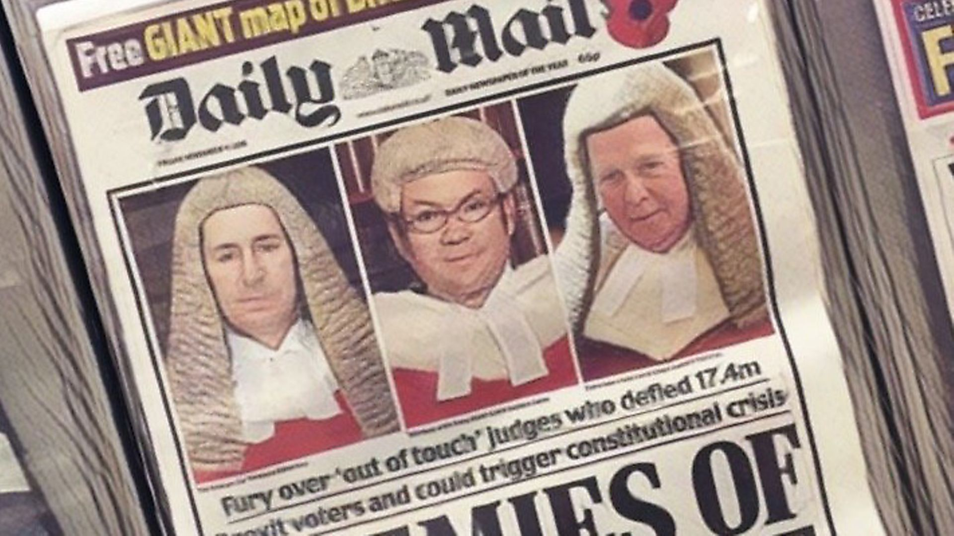 A front page of the Daily Mail. Photograph: TNE. - Credit: Archant