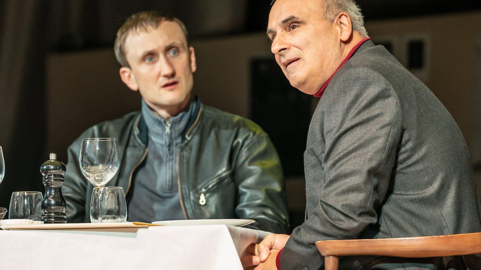 Tom Brooke as Alexander Litvinenko and Peter Polycarpou as Boris Berezovsky in A Very Expensive Poison - Credit: Archant
