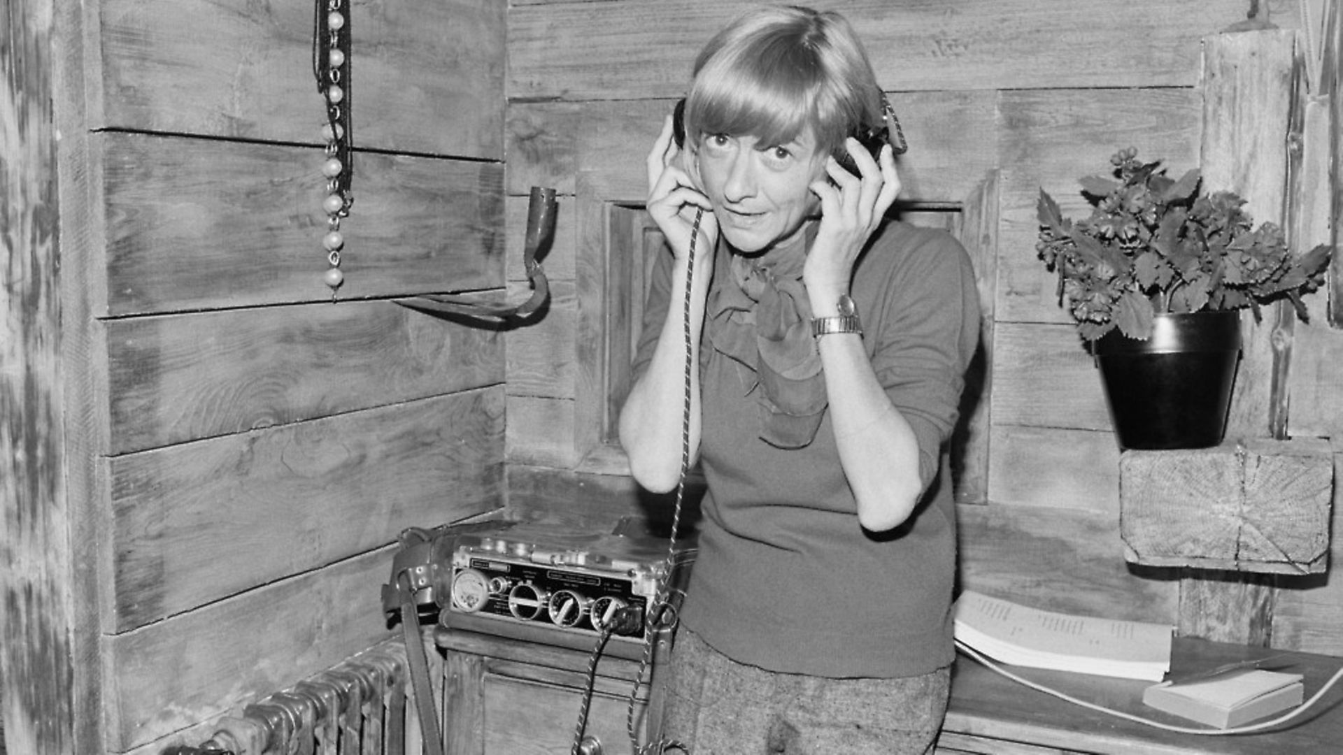 French author-turned-director Francoise Sagan listens to music on the film set of her first film Les Fougeres Bleues. (Photo by Solange Cazier-Charpentier/Sygma/Sygma via Getty Images) - Credit: Sygma via Getty Images