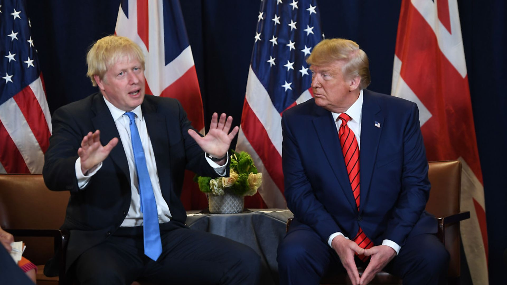 Toxic Twins: Boris Johnson and US president Donald Trump at the UN in New York. Picture: Saul Leob/Getty Images - Credit: AFP/Getty Images