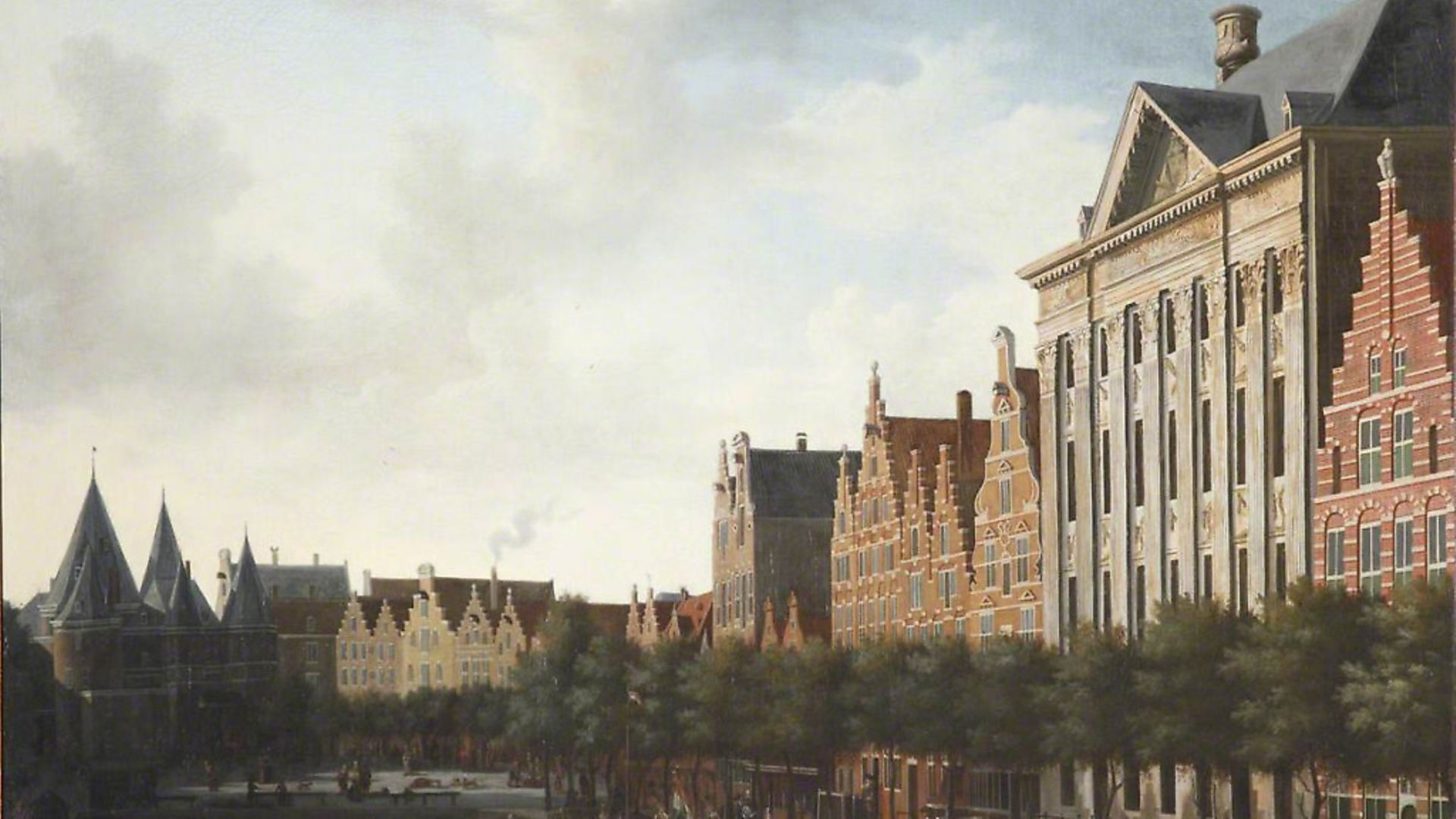 Gerrit Berckheyde's 'View of Amsterdam', c.1675. Picture: Collection of Brasenose College, Oxford - Credit: Photo Credit: Brasenose College,