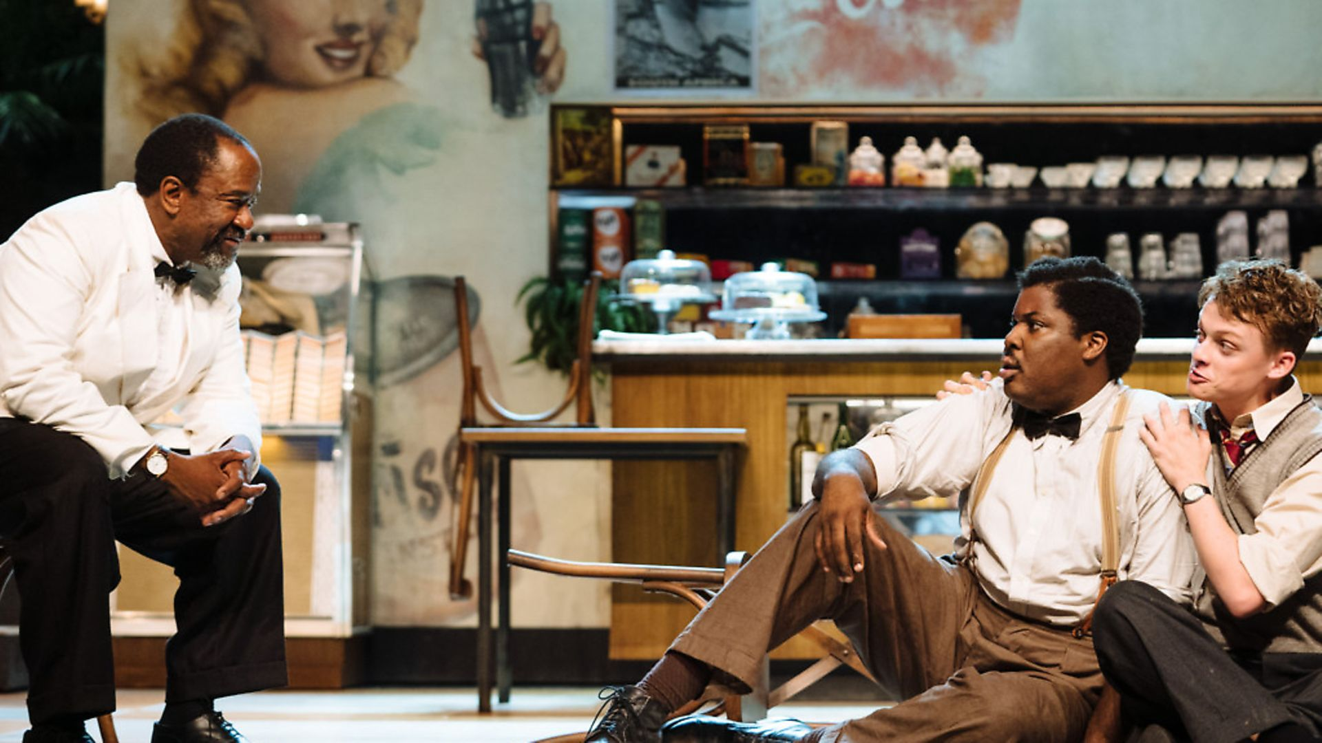 Lucian Msamati, Hammed Animashaun and Anson Boon in Master Harold...and the boys Picture: Helen Murray - Credit: Archant