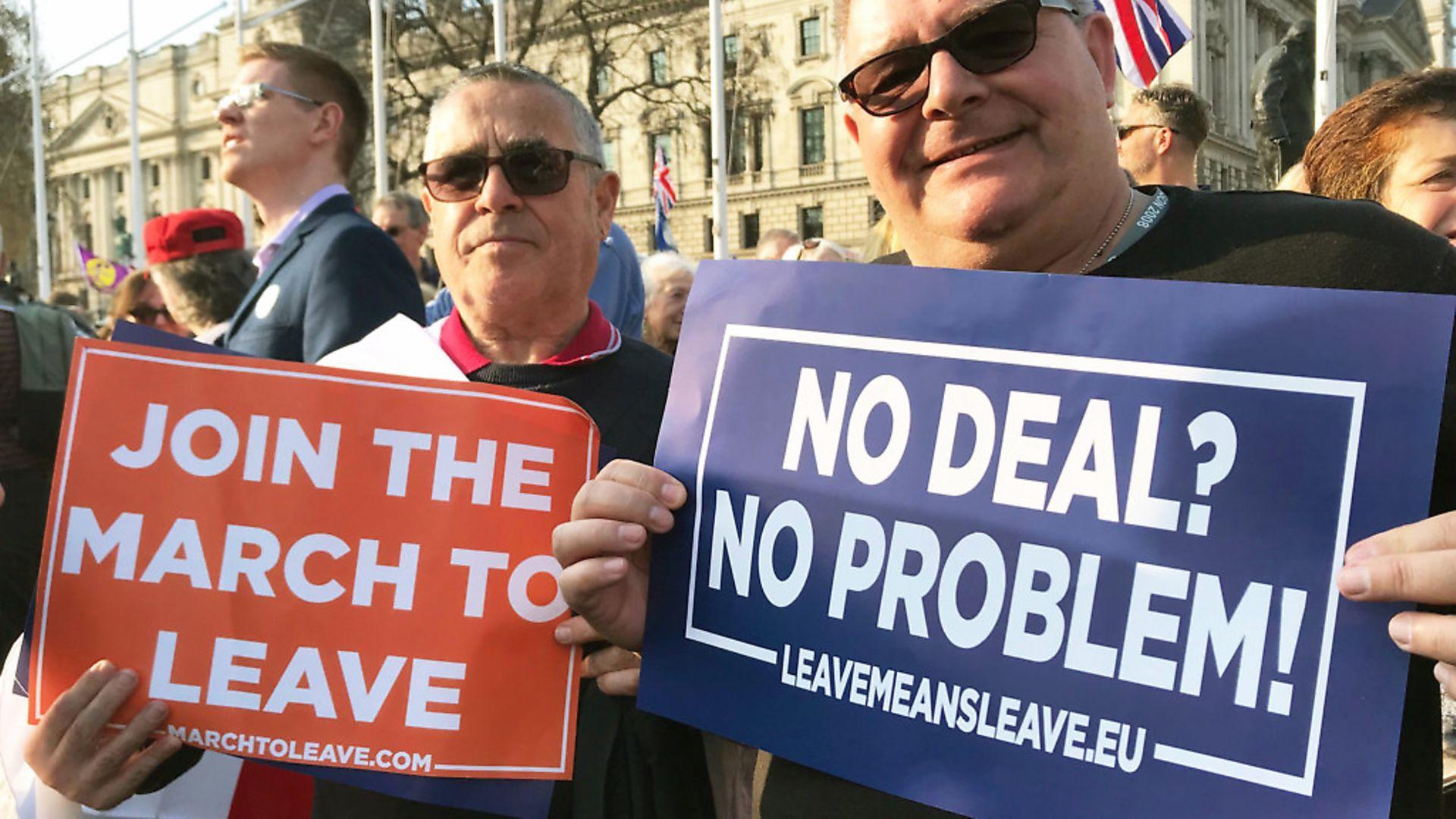 Brexit demonstrators. Photograph: Tess De La Mere/PA. - Credit: PA Archive/PA Images