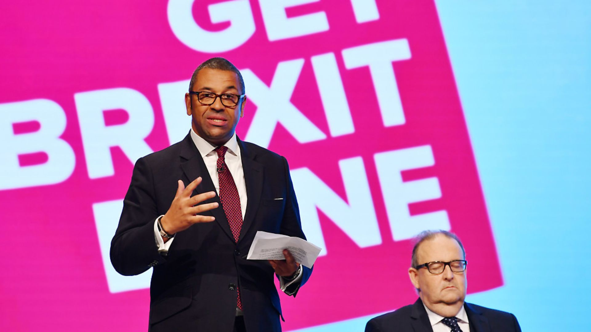 Tory chairman James Cleverly at the Conservative Party conference. Picture: Jeff J Mitchell/Getty Images - Credit: Getty Images