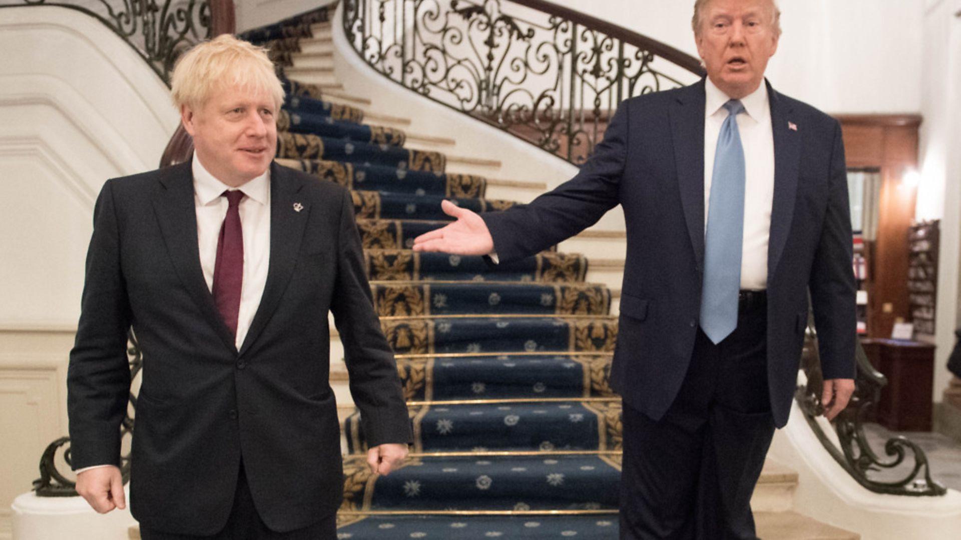 Boris Johnson meeting US President Donald Trump for bilateral talks - Credit: Stefan Rousseau/PA Wire