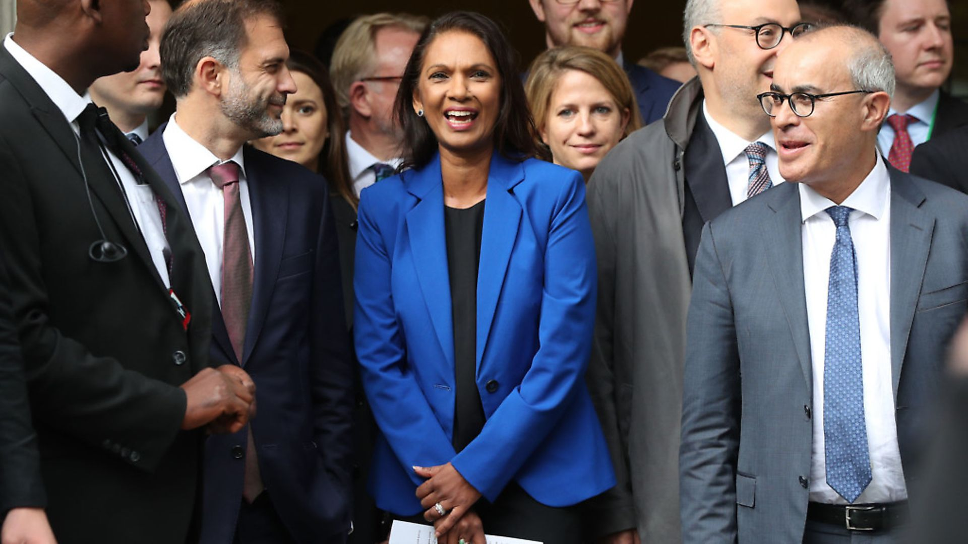 Gina Miller reacts outside the Supreme Court in London, where judges have ruled that Boris Johnson's advice to the Queen to suspend parliament for five weeks was unlawful. Photograph: Jonathan Brady/PA Wire. - Credit: PA