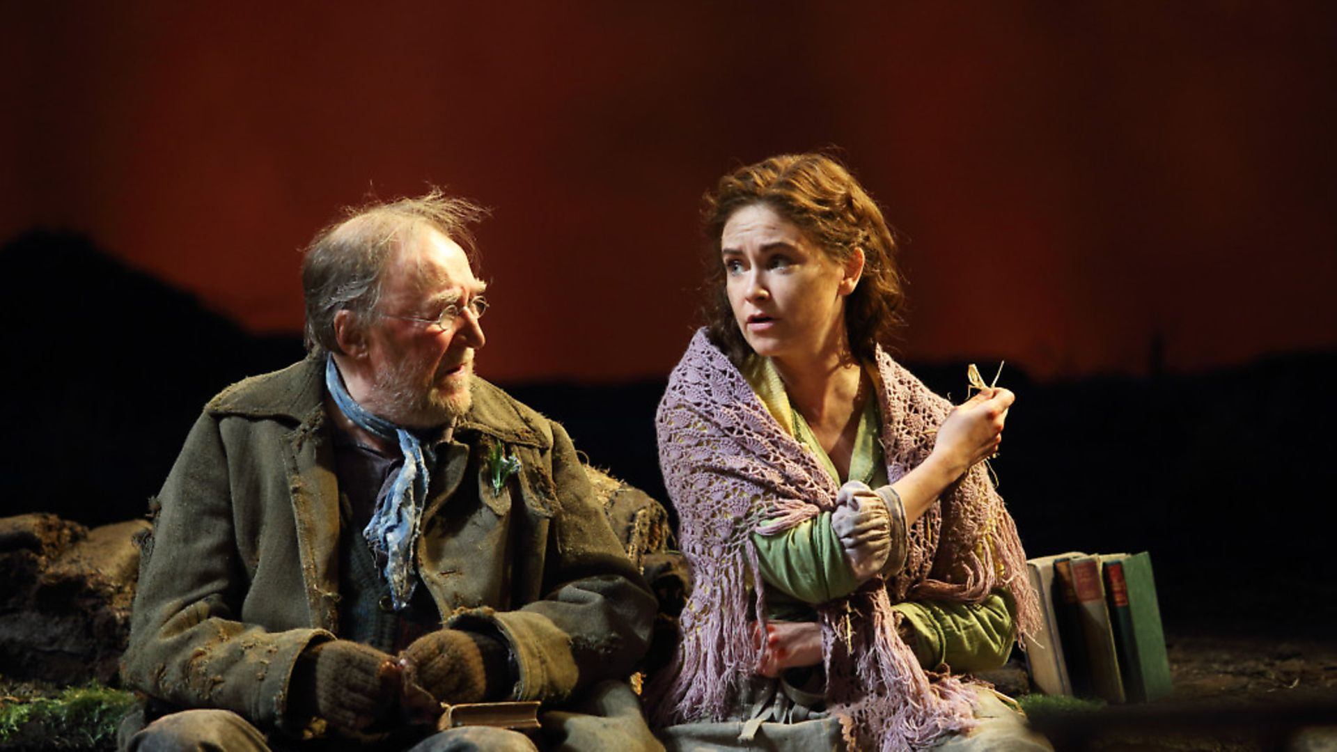 Dermot Crowley and Judith Roddy in Brian Friel's Translations. Photo: Catherine Ashmore - Credit: Archant
