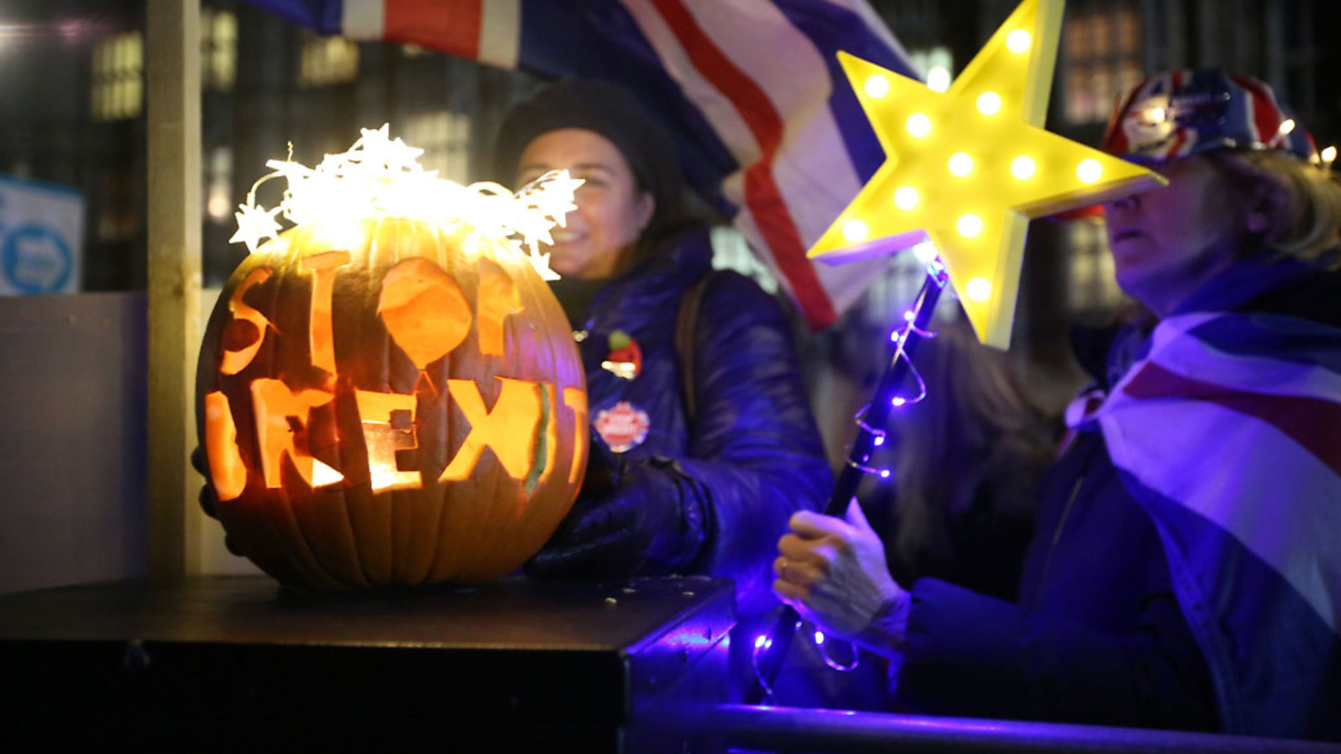 Campaigners fighting against Brexit ahead of the Halloween deadline. Photograph: Rick Findler/PA Wire. - Credit: PA