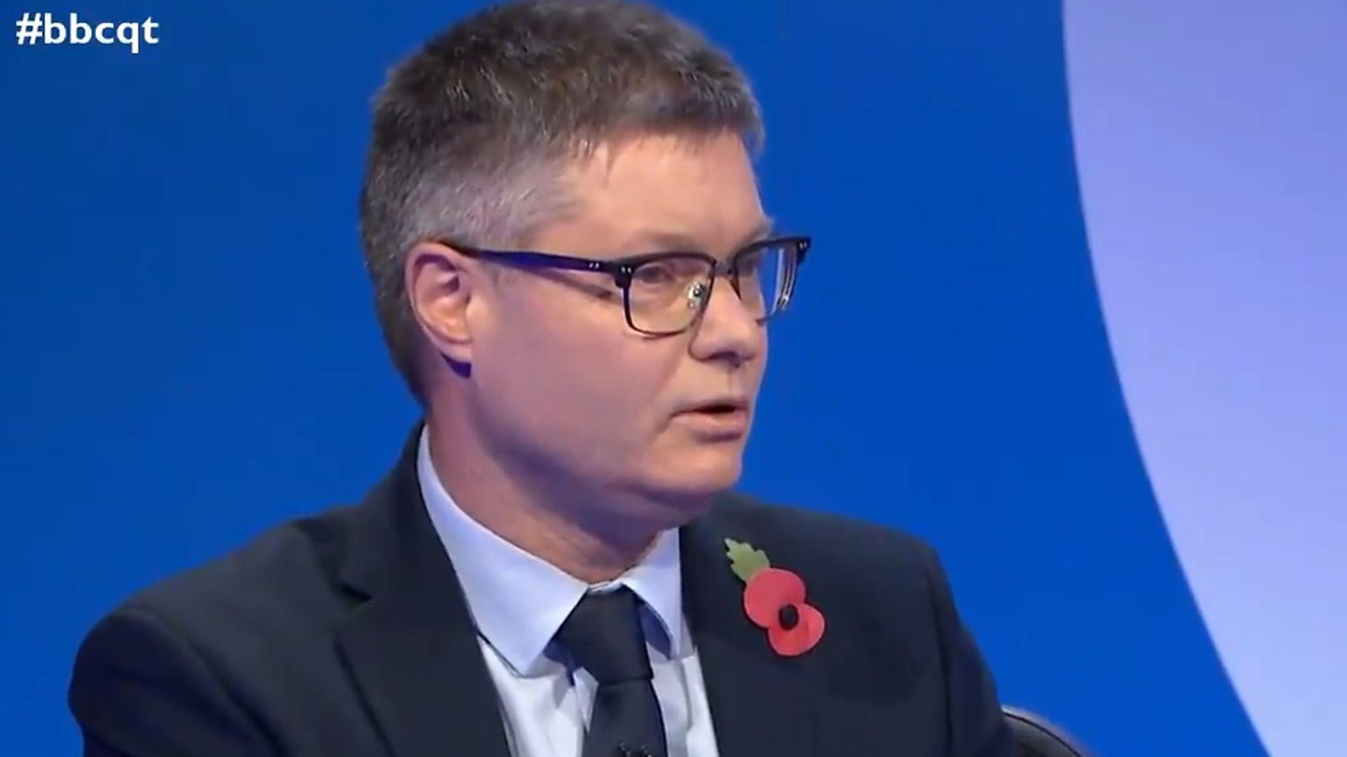 Simon Wolfson on BBC Question Time - Credit: BBC