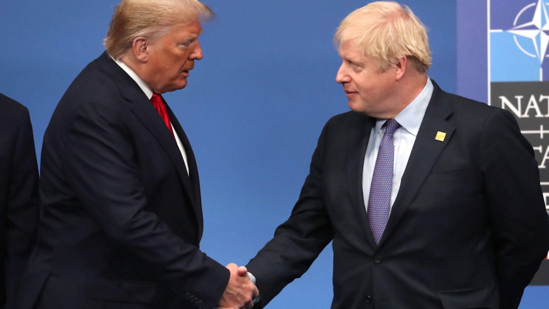 US President Donald Trump (left) with Prime Minister Boris Johnson - Credit: PA
