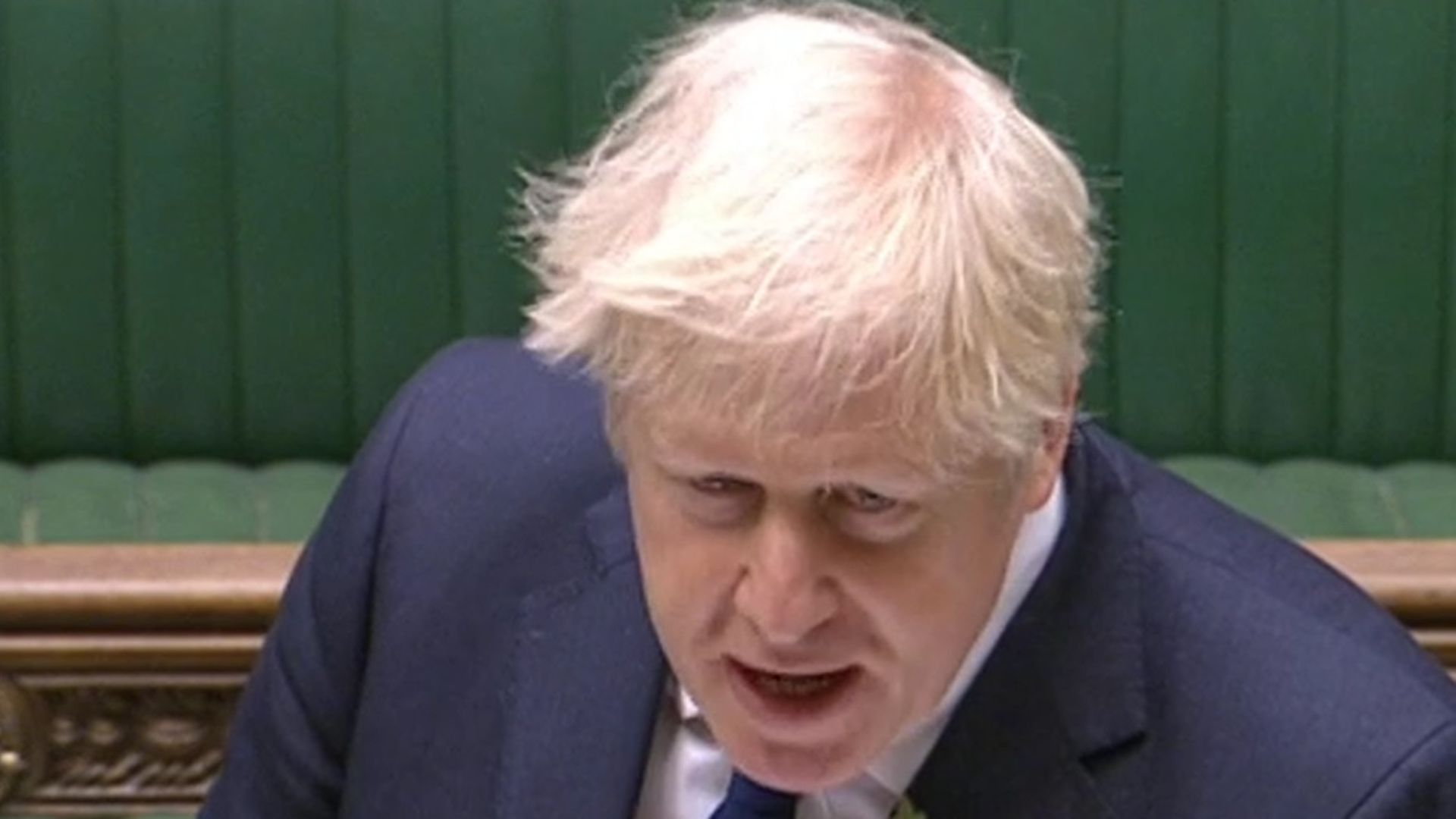 Boris Johnson speaking at prime minister's questions in the House of Commons - Credit: Parliament