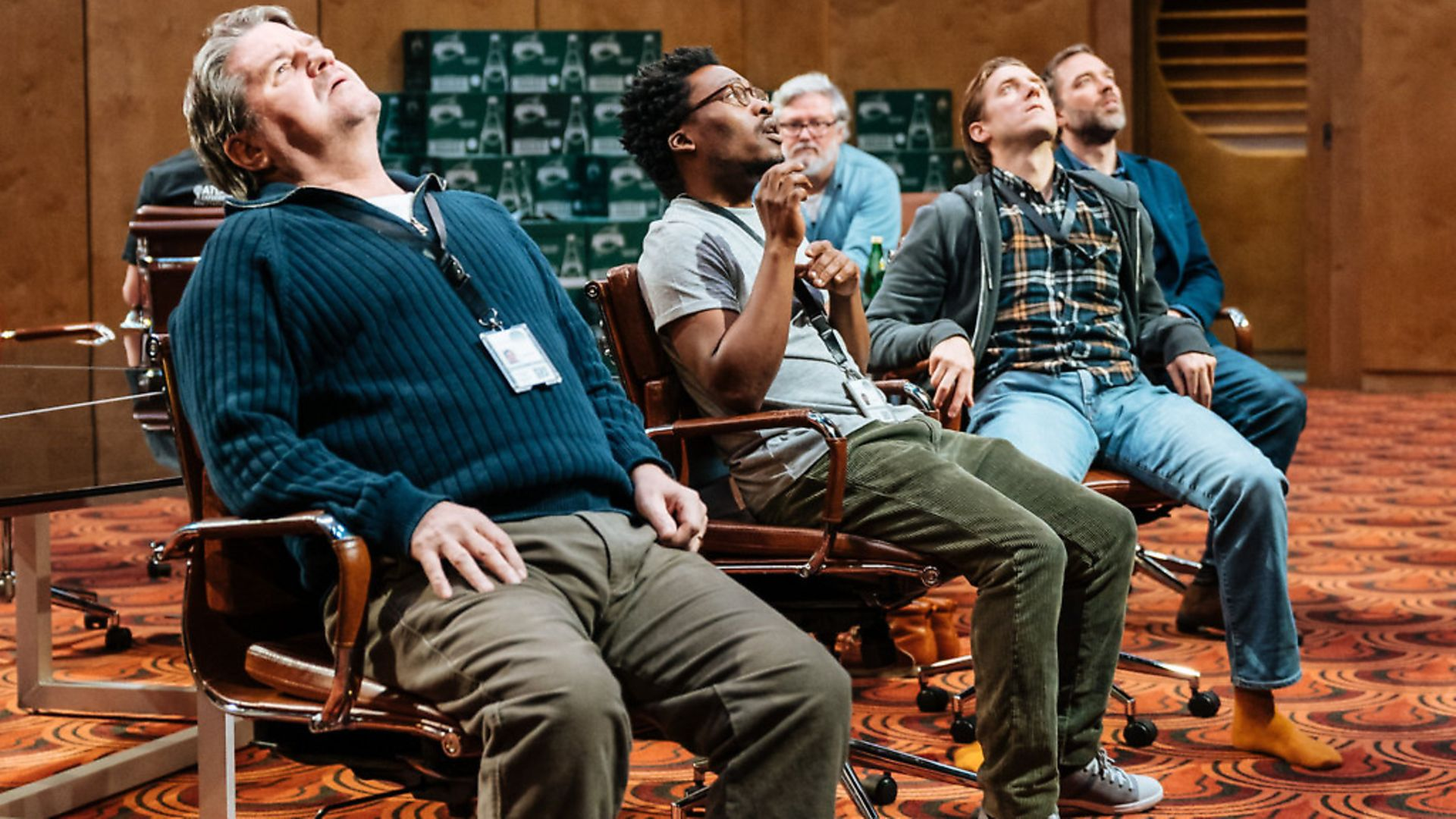 The cast of Annie Baker's The Antipodes at the National Theatre. Photo: Manuel Harlan - Credit: Archant