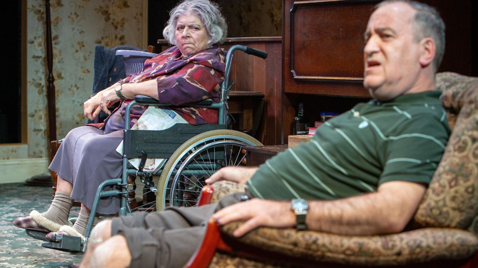 Miriam Margolyes and Mark Hadfield in Sydney & the Old Girl. Photo: Pete Le May - Credit: Archant