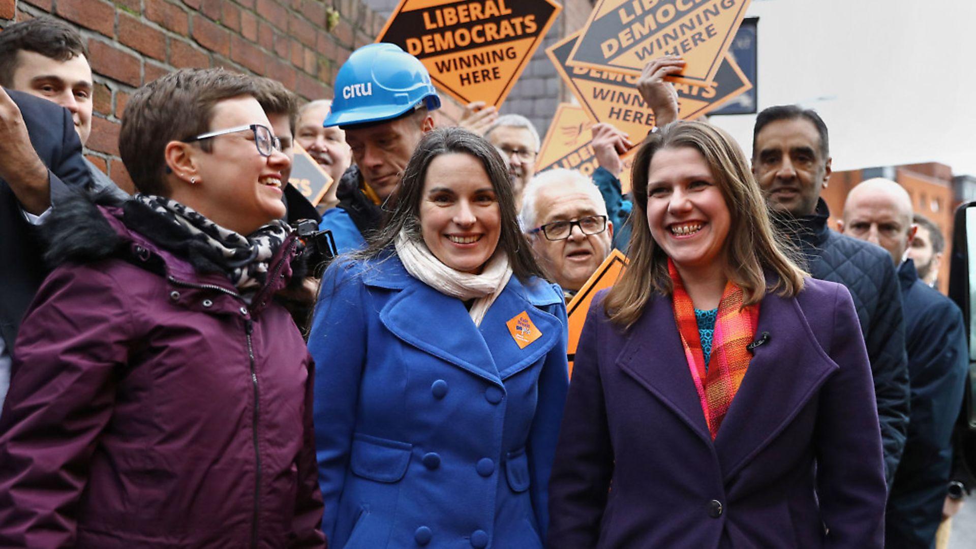 Liberal Democrat leader Jo Swinson (right). Photograph Aaron Chown/PA Wire. - Credit: PA