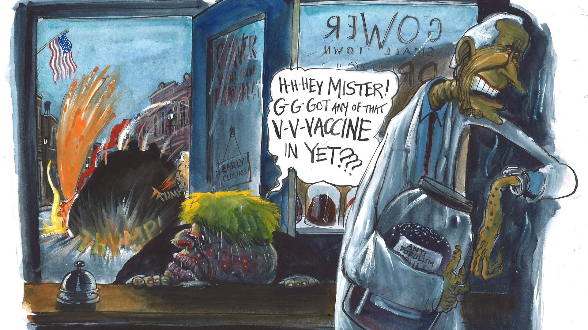 Illustration by Martin Rowson. - Credit: The New European