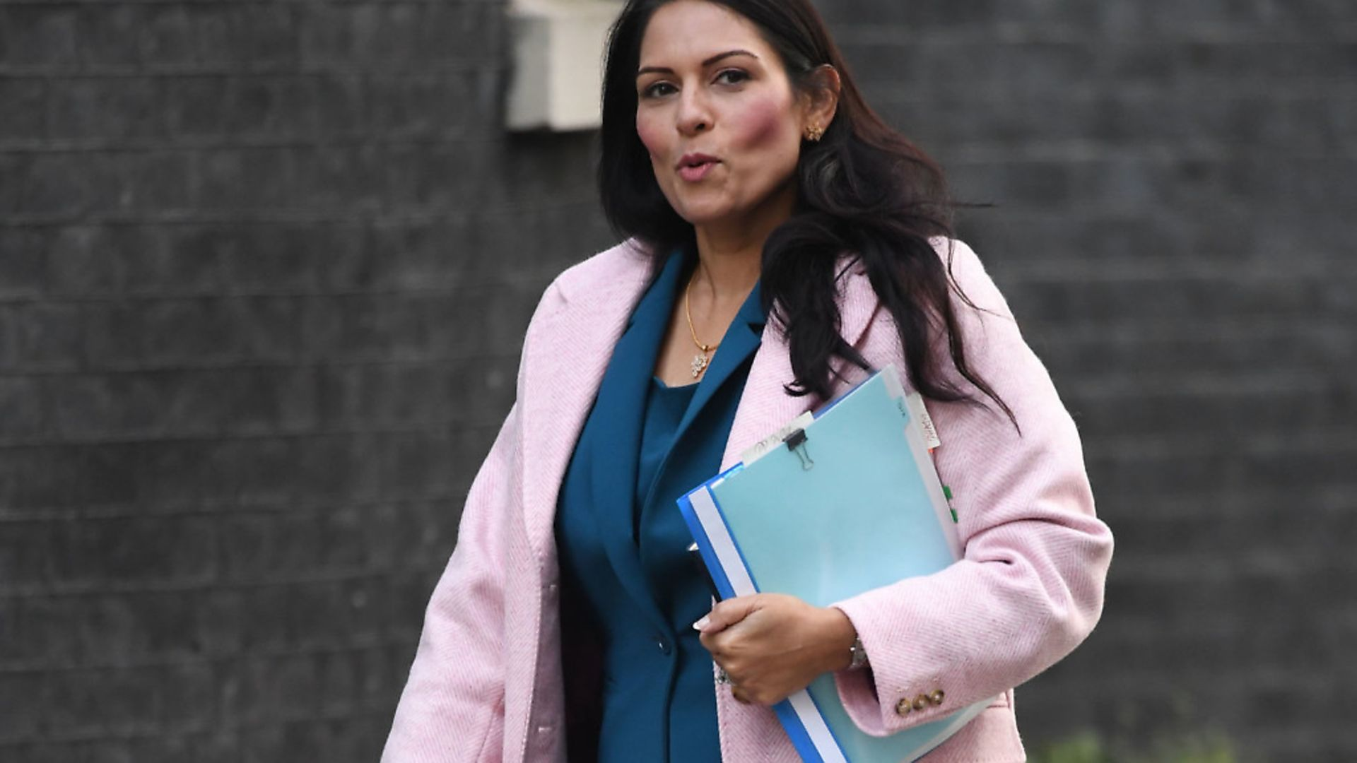 Home Secretary Priti Patel arrives for a cabinet meeting in Downing Street. Photograph: Stefan Rousseau/PA Wire. - Credit: PA