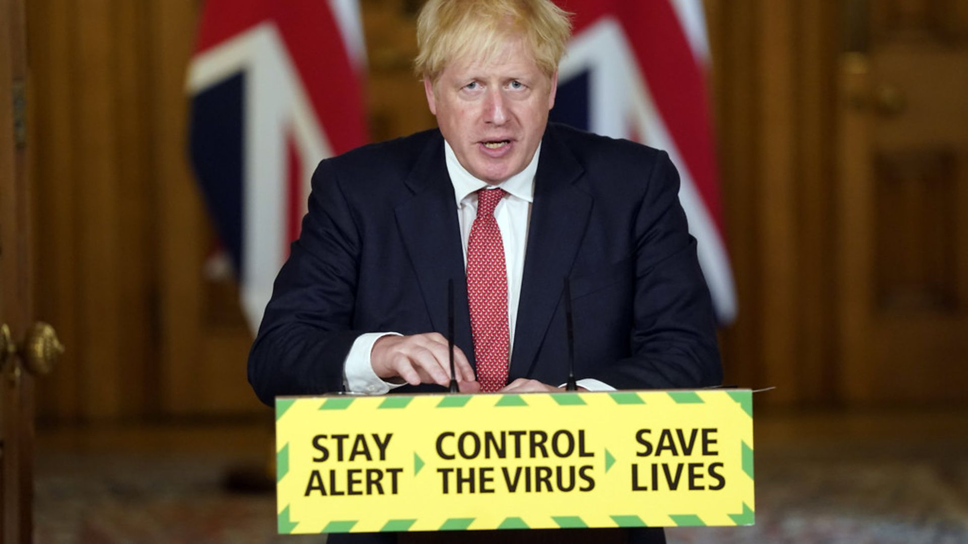 Prime minister Boris Johnson during a press briefing in Downing Street, London, on coronavirus - Credit: PA