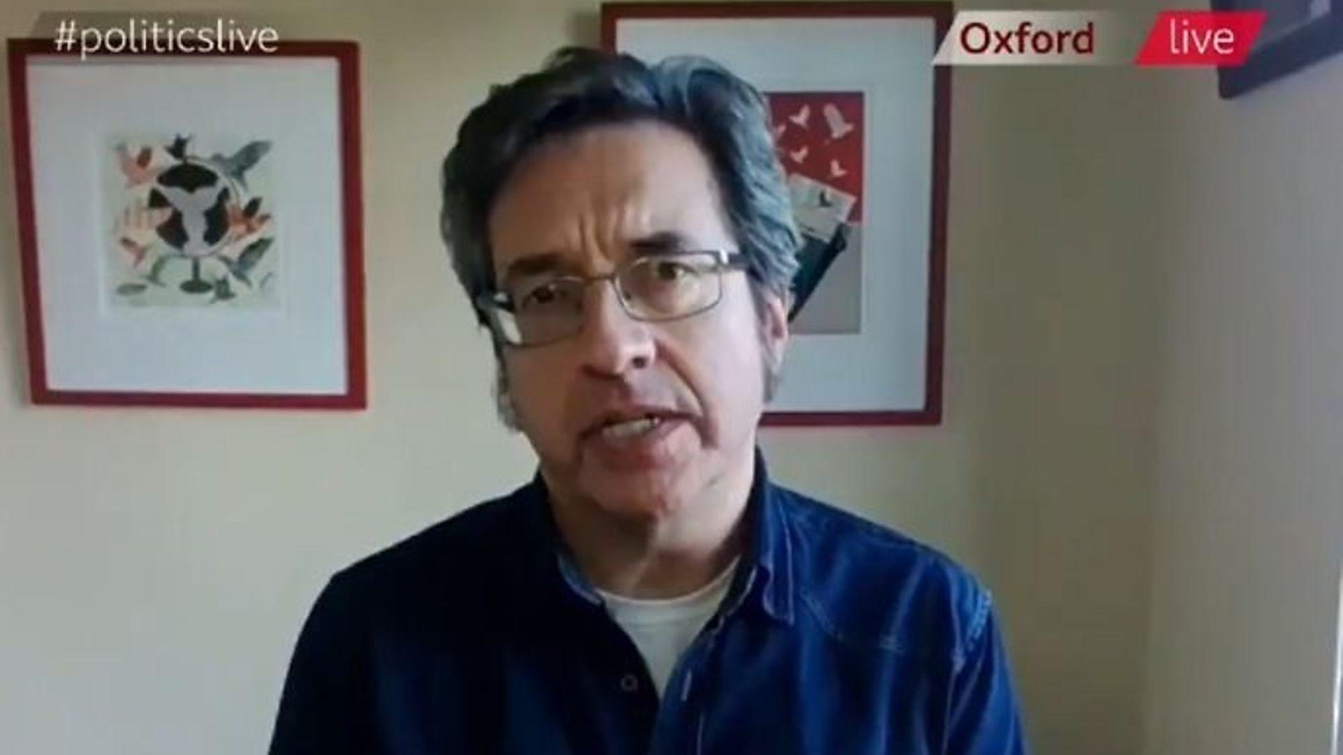 The Guardian's George Manbiot on BBC 2's Politics Live - Credit: Twitter