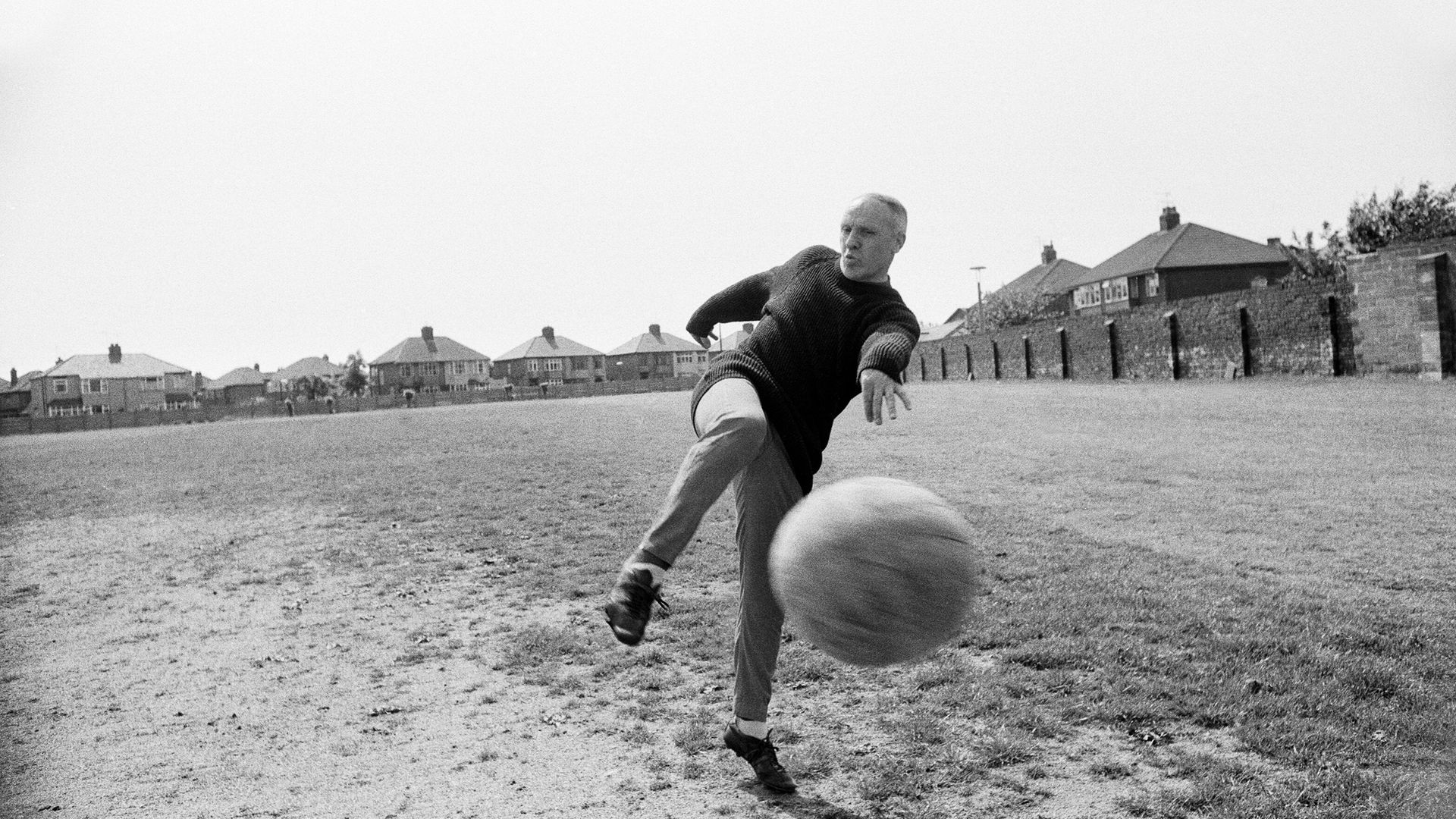 Liverpool manager Bill Shankly, aged 57, keeps himself fit by practicing his football skills at the club's training ground, 2nd June 1971. (Photo by Eddie Sanderson/Mirrorpix/Getty Images) - Credit: Getty Images