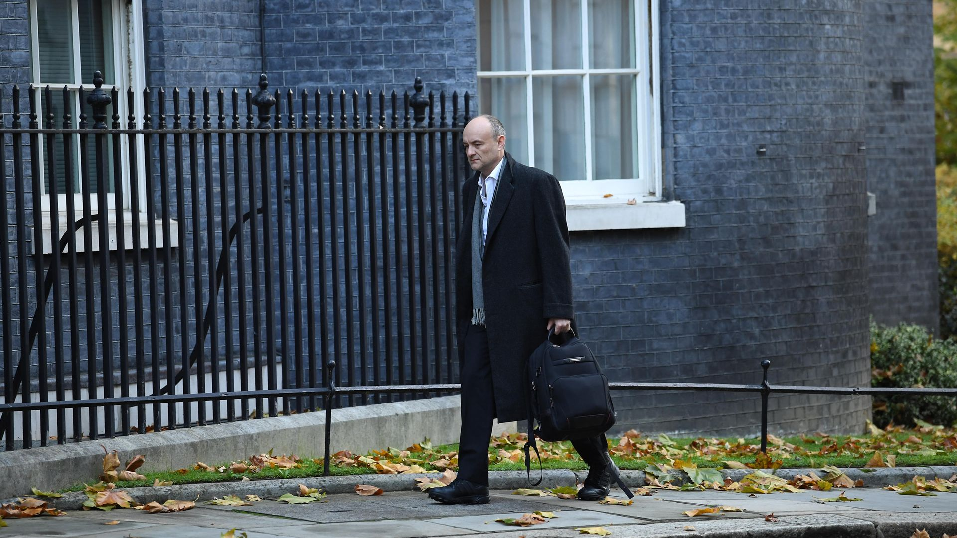 Prime Minister Boris Johnson's top aide Dominic Cummings arrives in Downing Street, London, the morning after Lee Cain announced he is resigning as Downing Street's director of communications and will leave the post at the end of the year. - Credit: PA