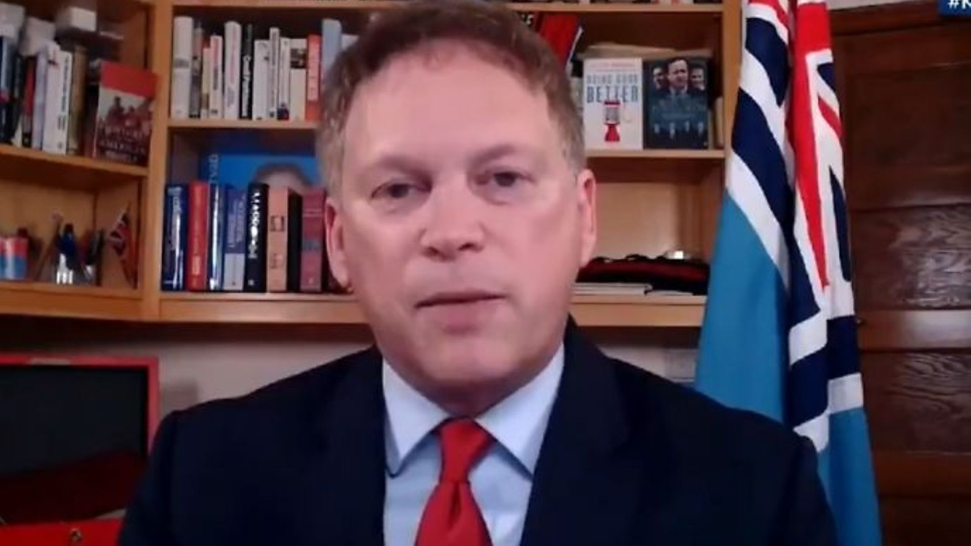Cabinet minister Grant Shapps on Kay Burley @ Breakfast - Credit: Twitter