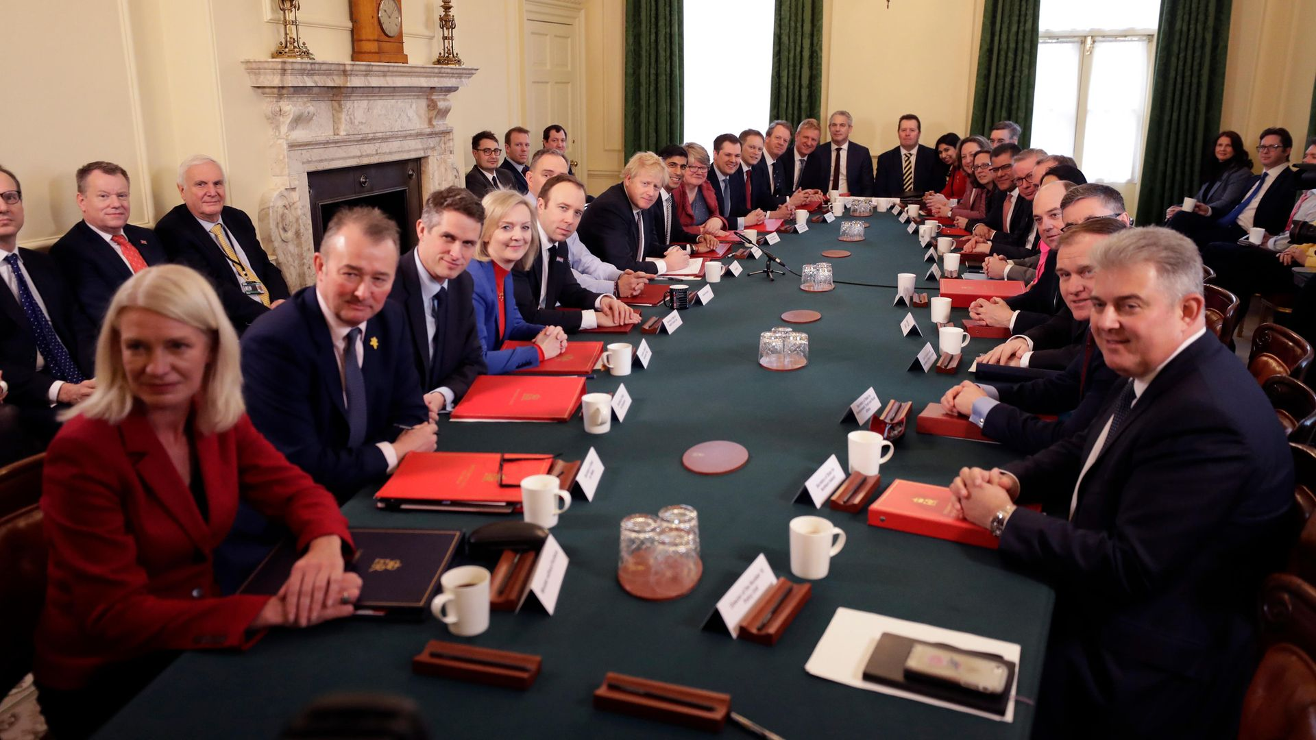 Prime Minister Boris Johnson presides over cabinet meeting at 10 Downing Street - Credit: PA