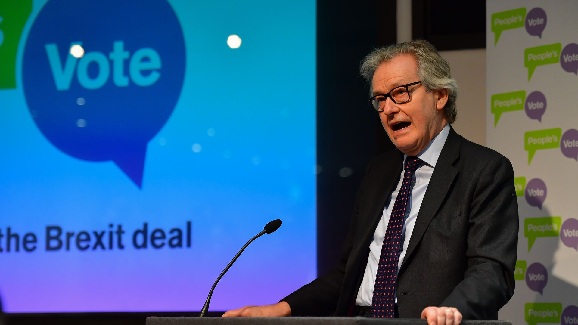 Former health secretary Stephen Dorrell speaking during a People's Vote press conference at the Institution of Civil Engineers in London - Credit: PA