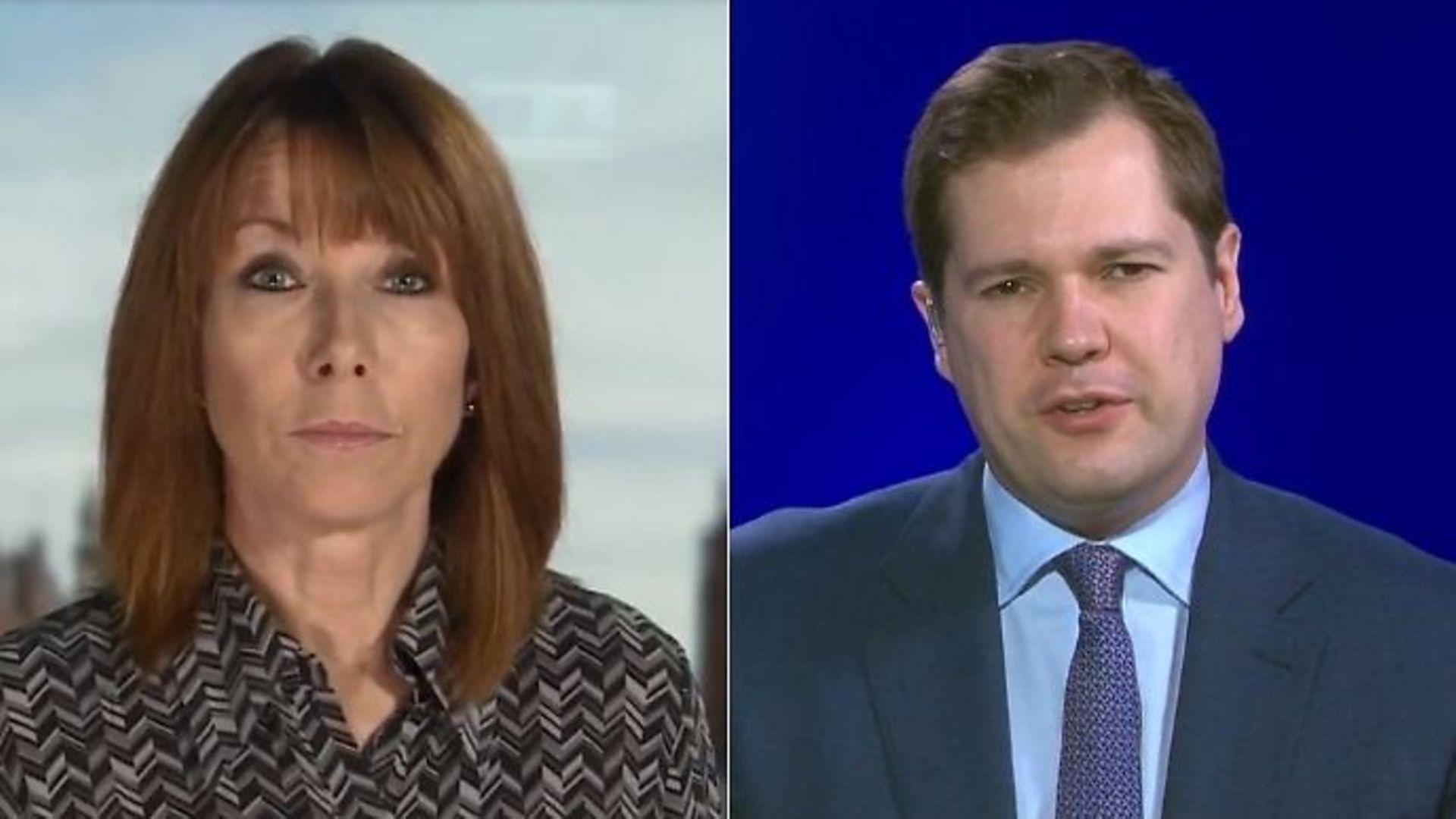 Kay Burley interviews Robert Jenrick - Credit: Sky News