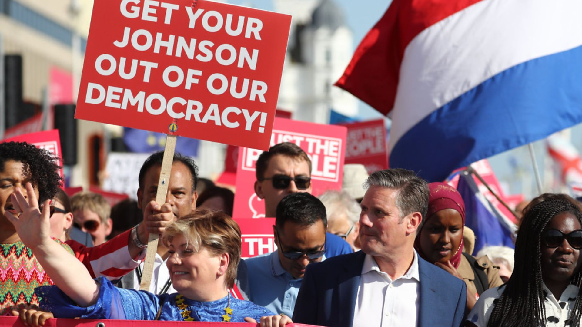 Emily Thornberry and Sir Keir Starmer at an anti-Brexit 'Trust the People' march - Credit: PA Wire/PA Images
