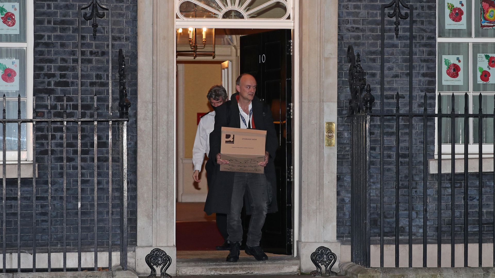 Dominic Cummings leaves 10 Downing Street, London, following his resignation - Credit: PA