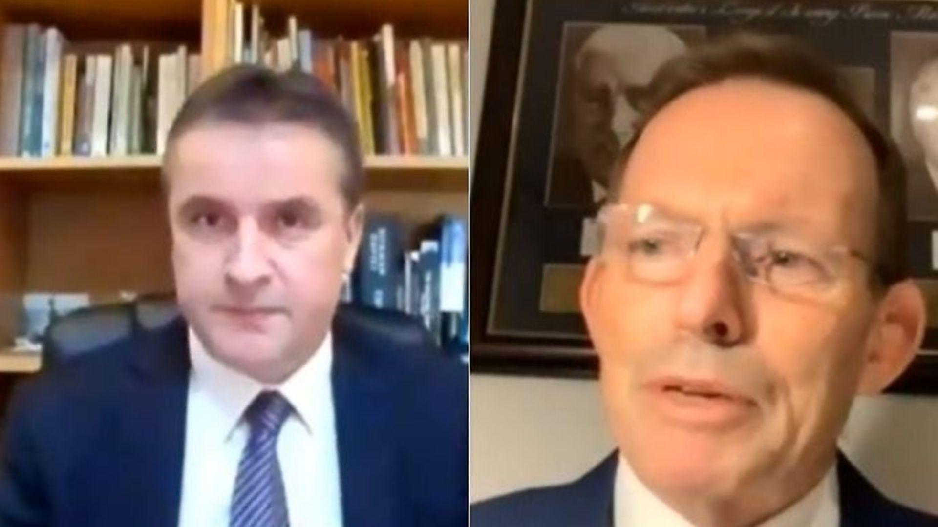 The SNP's Angus Brendan MacNeil (L) and Britain newest trade envoy Tony Abbott - Credit: Parliamentlive.tv