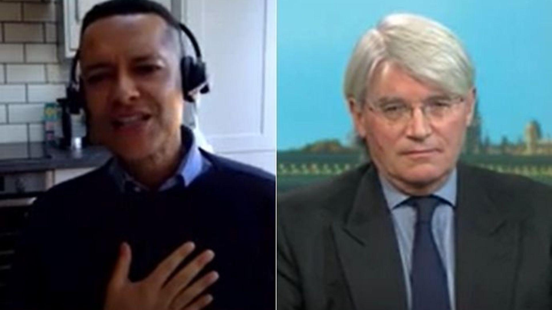 Labour's Clive Lewis (L) and Conservative MP Andrew Mitchell on Politics Live - Credit: BBC, Politics Live
