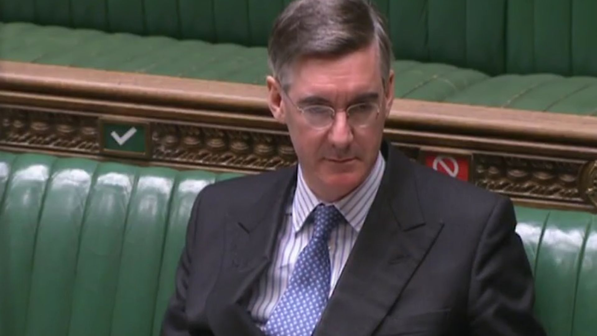 Jacob Rees-Mogg in the House of Commons - Credit: Parliament Live