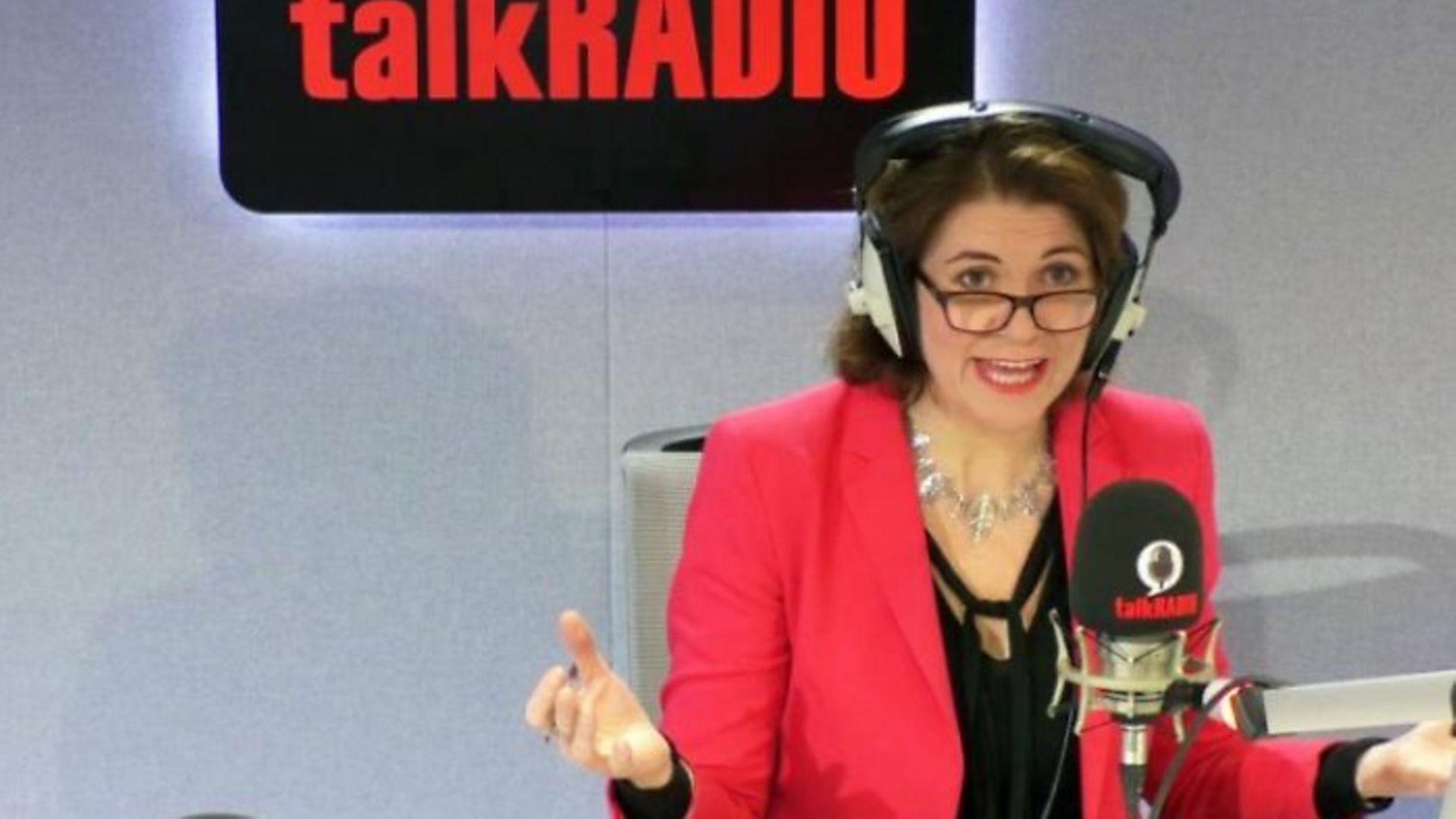 TalkRadio presenter Julia Hartley-Brewer - Credit: Twitter