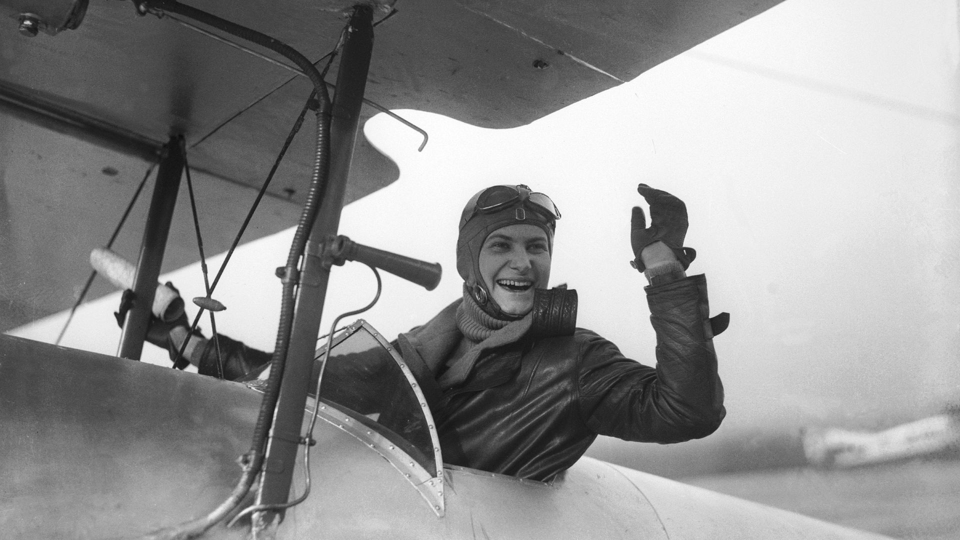 Hélène Boucher at Bourget airport in 1929 - Credit: Gamma-Keystone via Getty Images